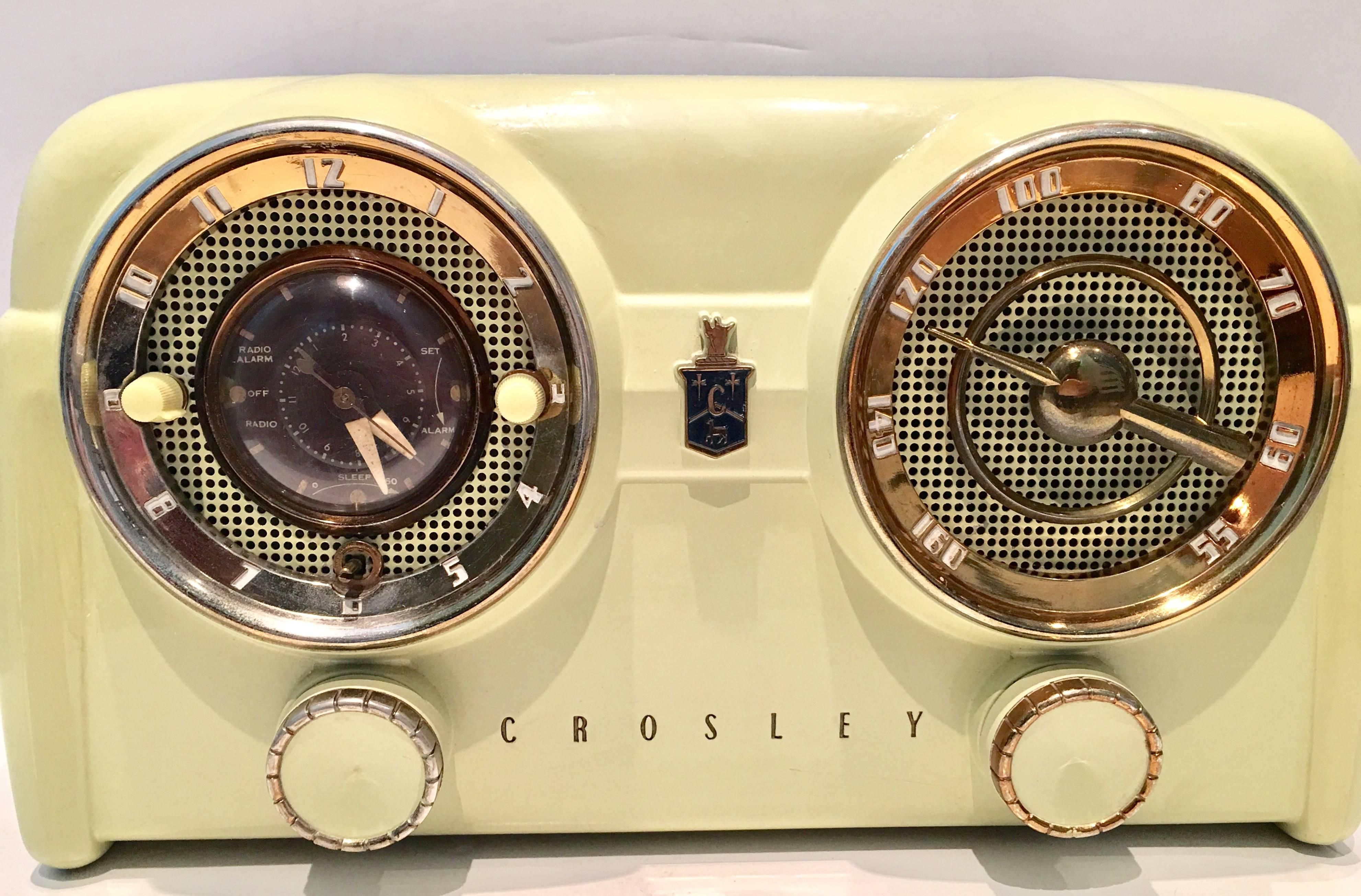 Crosley Radio 1950s Art Deco Crosely Bakelite Tube