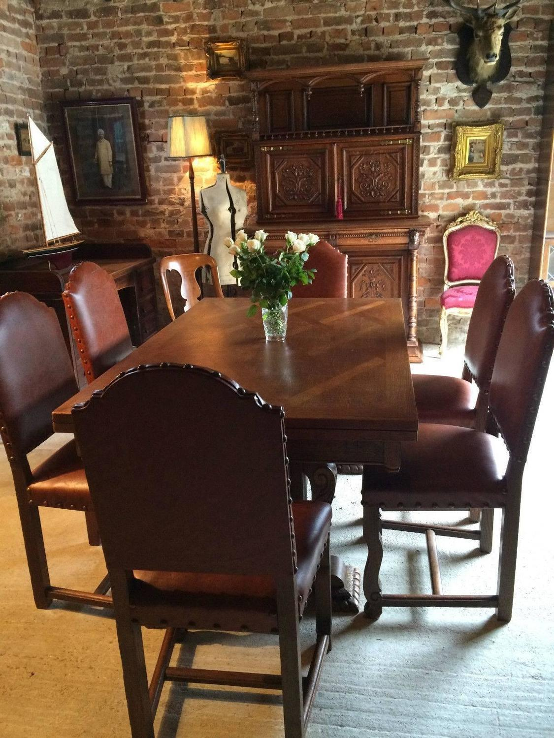 Dining Room Tables That Extend To Seat 12 Antique Style Oak Dining Table Extending Six Chairs Seats