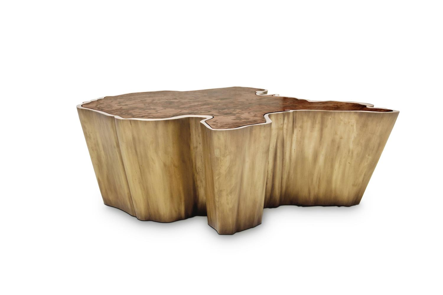 Couchtisch Silas 2 Brabbu Walnut And Brass Organic Modern Coffee Table Fifty