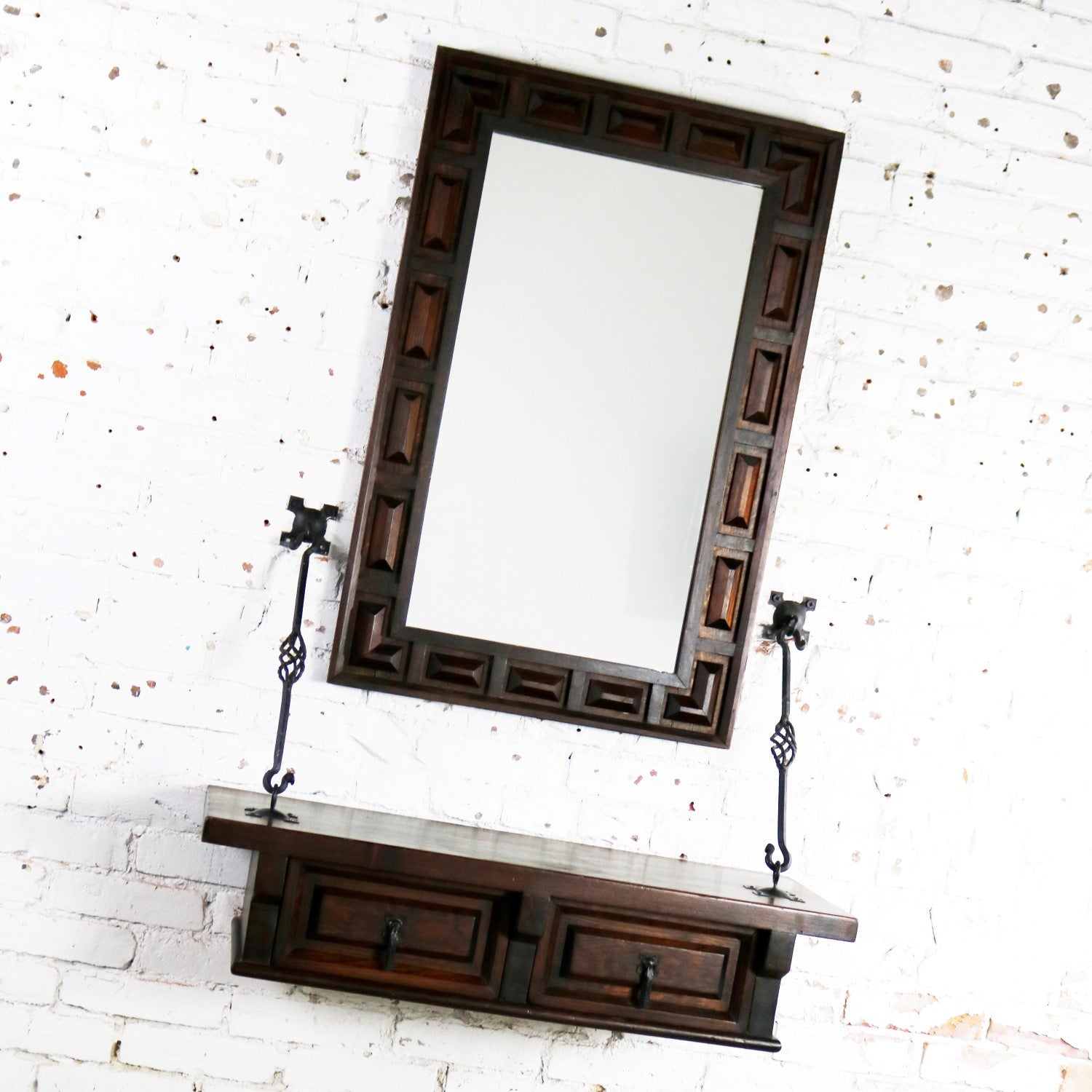 Mirror Inc Topeka Ks Spanish Revival Style Wall Hanging Console Table Mirror After Artes De Mexico