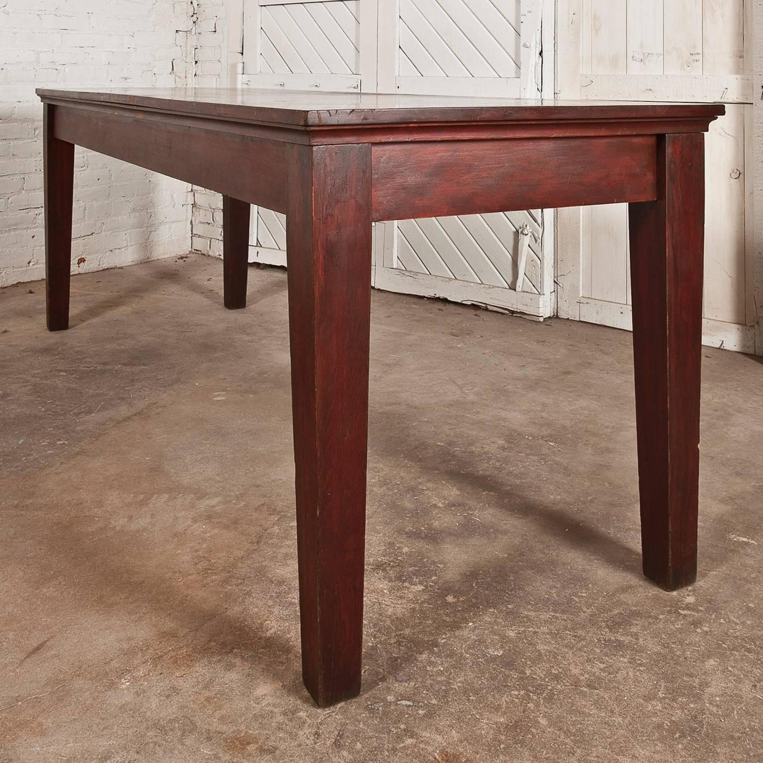 Farmhouse Console Table Antique Rustic Distressed Farmhouse Style Harvest Dining