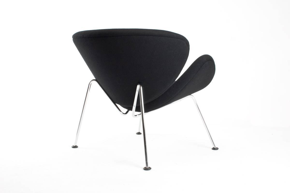 Pierre paulin orange slice lounge chair for artifort 1960
