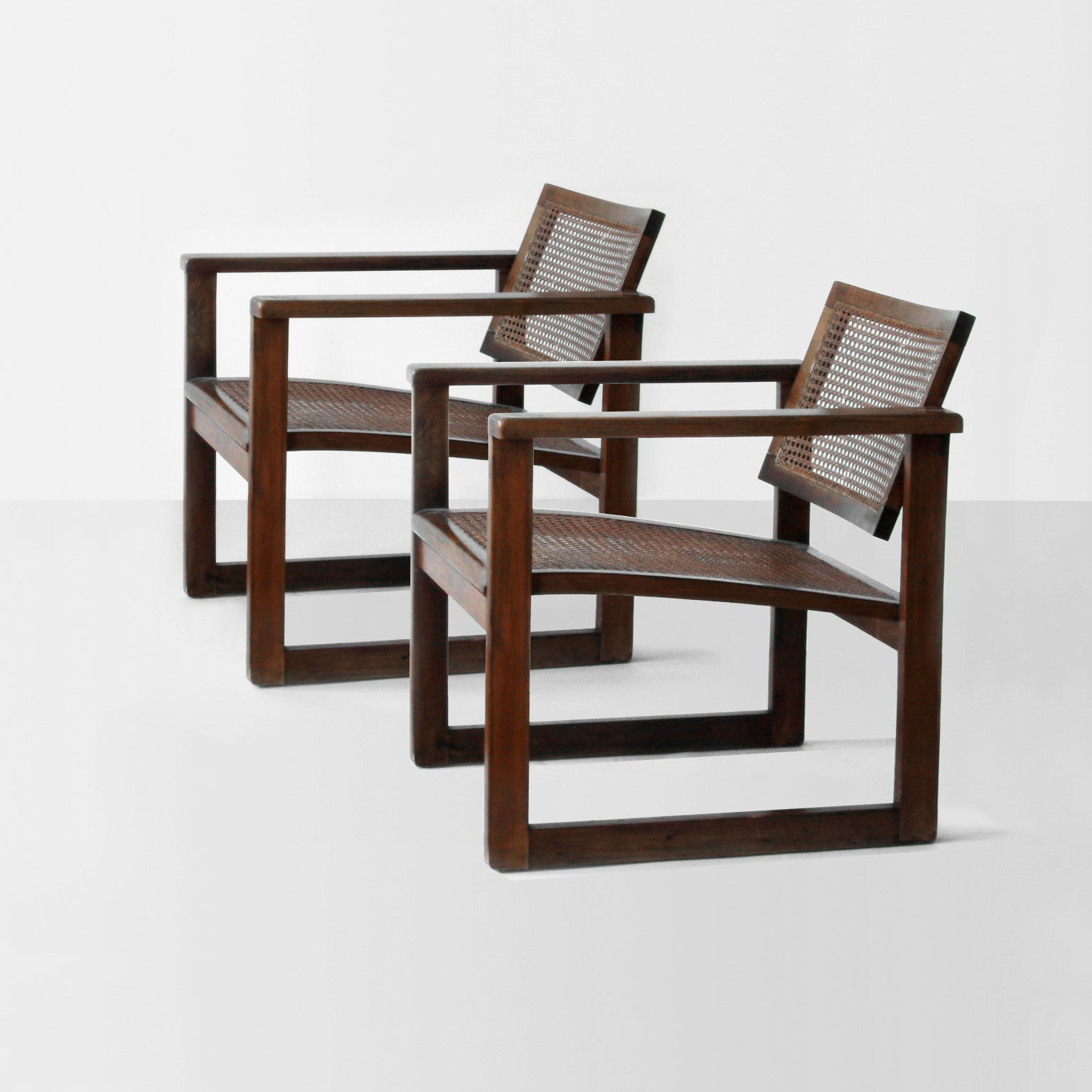 Armlehnstuhl Modern Bauhaus Wooden Armchairs Pair By Peter Keler, Manufactured By Albert Walde, 1930 For Sale At 1stdibs