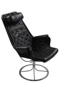 Mid-Century Bruno Mathsson Black Leather Jetson Lounge ...