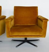 Swiss Mid-Century Men's Swivel Club Chairs or Lounge ...