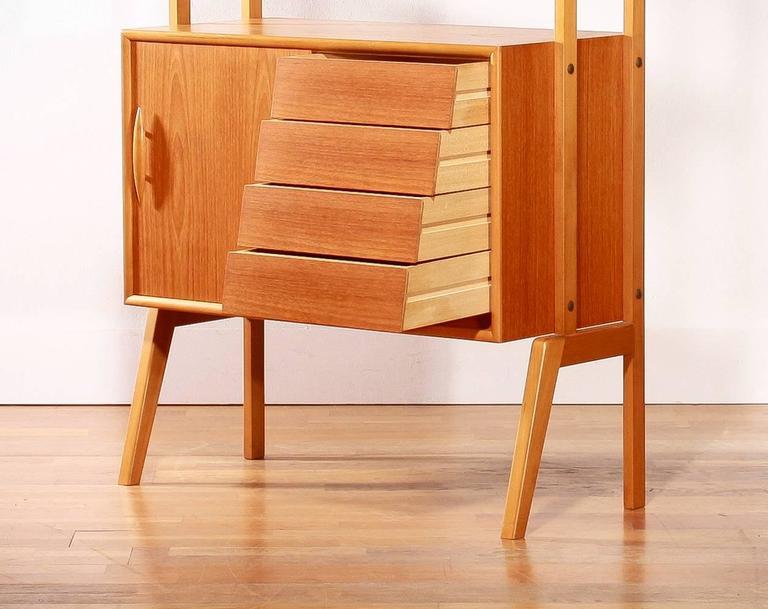 1950s Teak Cabinet Bookshelves Sweden At 1stdibs