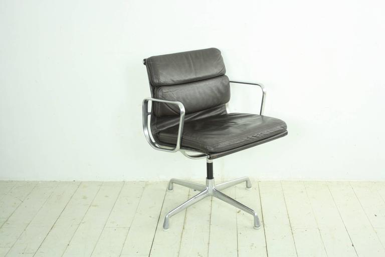 Charles Eames For Herman Miller Dark Brown Leather Soft