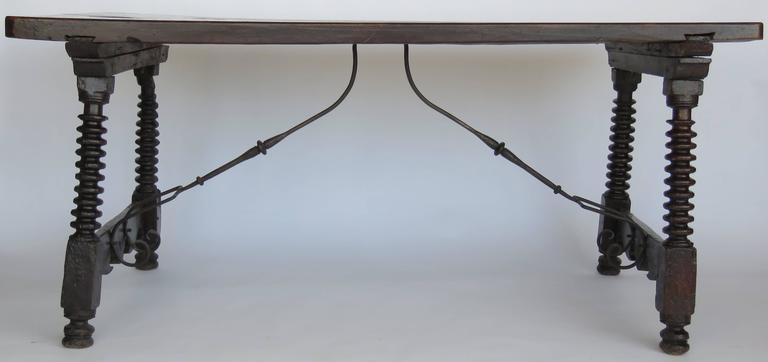 18th Century Baroque Walnut Trestle Table For Sale At 1stdibs