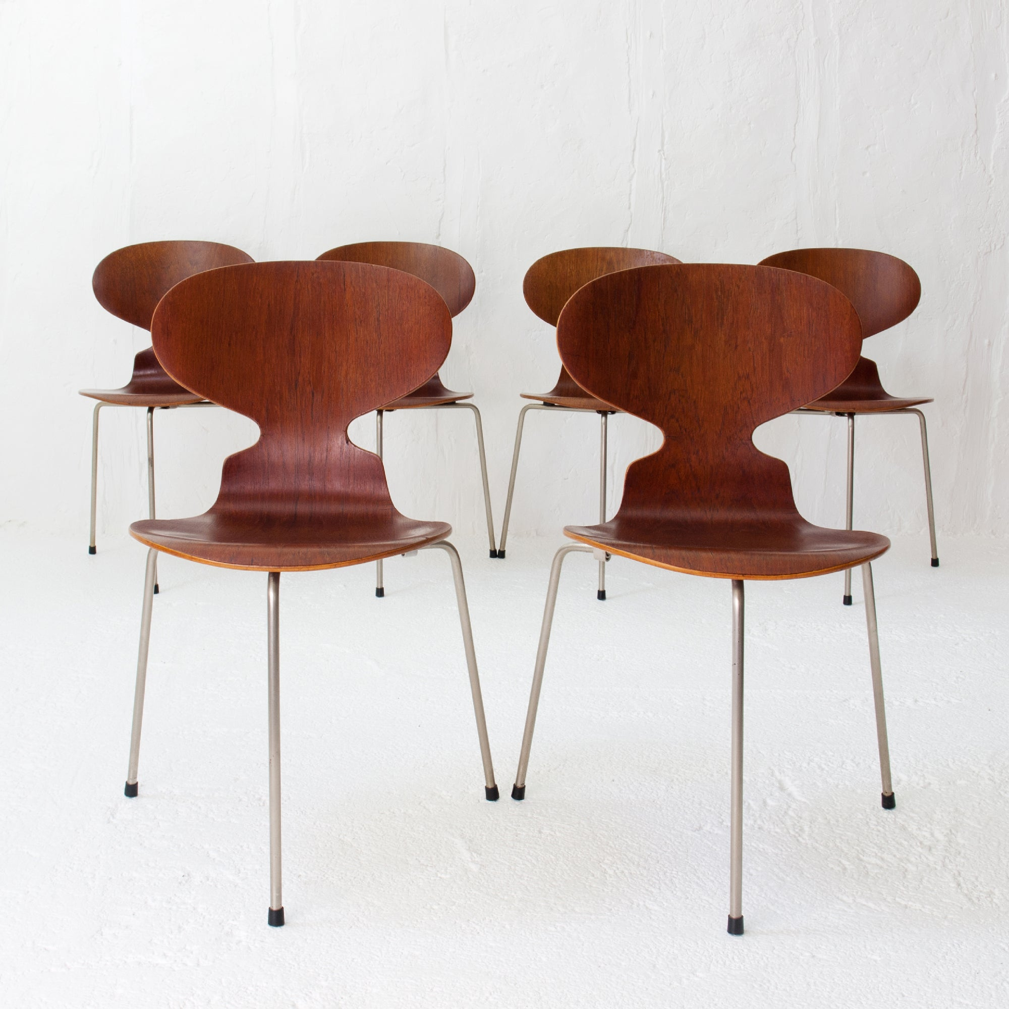 Chaise Fourmi Jacobsen Teak Ant Chairs 3100 Arne Jacobsen For Fritz Hansen Early 1960s