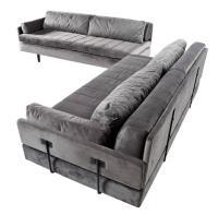 Custom Made Modular Grey Velvet Daybed Sofa Set For Sale ...