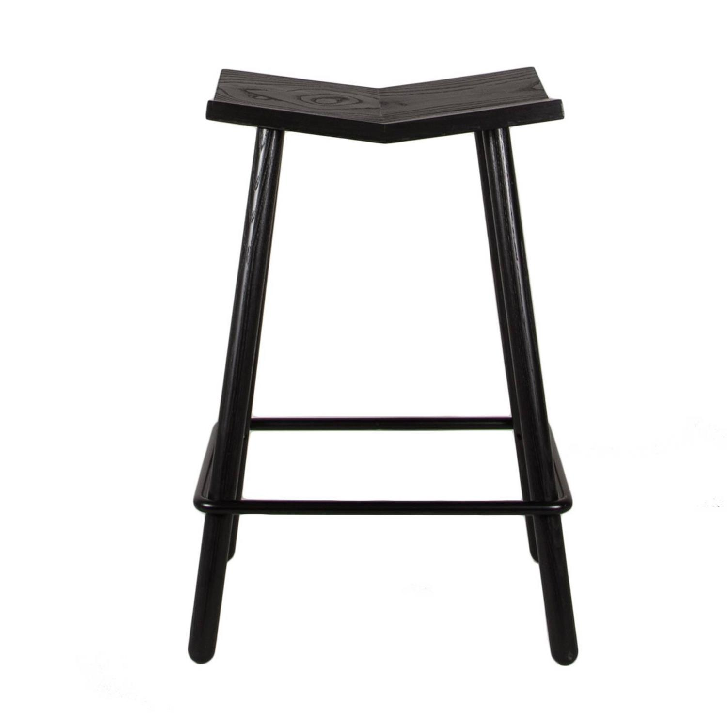 Modern Counter Height Stools Modern Black Mitre Wooden Stool Contemporary Counter