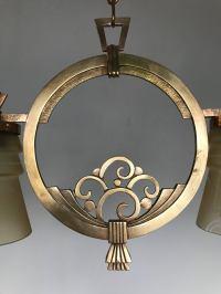 Highly Stylish 1920s Art Deco Era Vienna Bronze and Glass ...