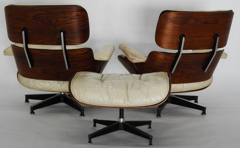 Pair Of Mid Century Herman Miller Eames Lounge Chairs With