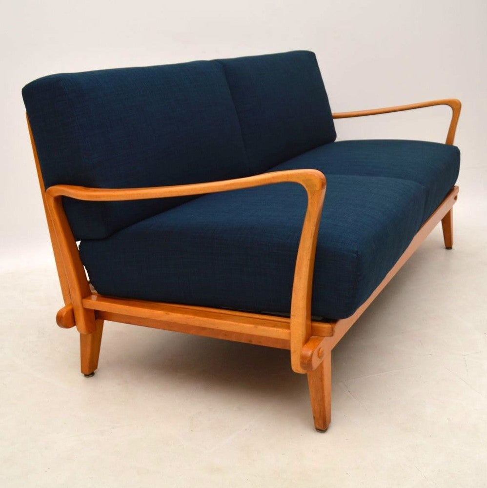 Retro Sofa Wood Retro Sofa Bed By Wilhelm Knoll Vintage 1950s
