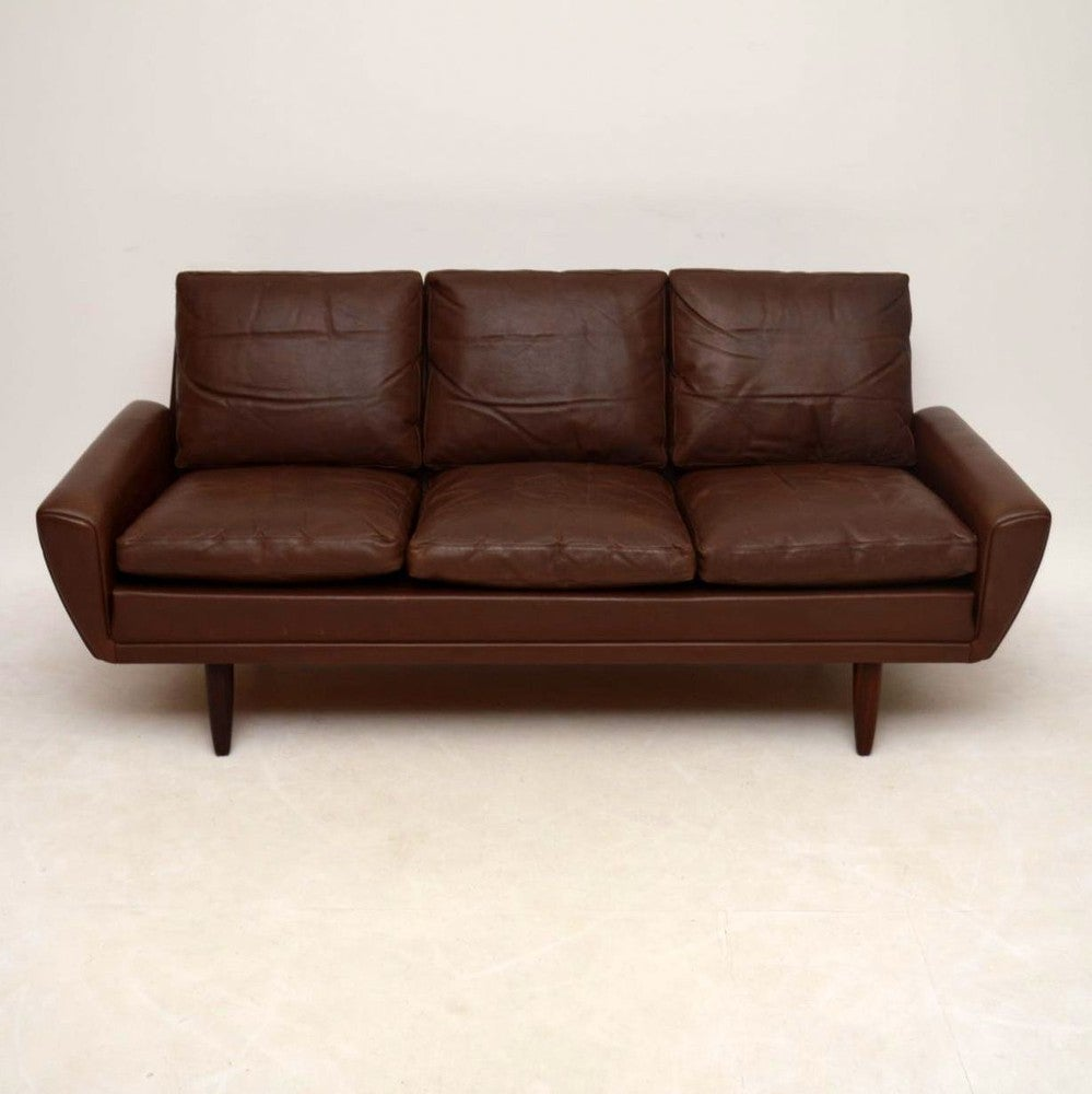 Danish Retro Leather 64 Sofa By Gustav Thams Vintage 1960s At 1stdibs