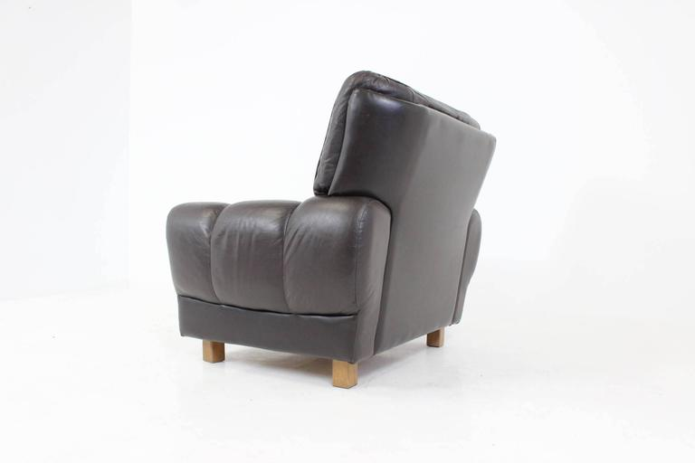 Czech Brown Leather Armchair From Vyber 1970s For Sale At