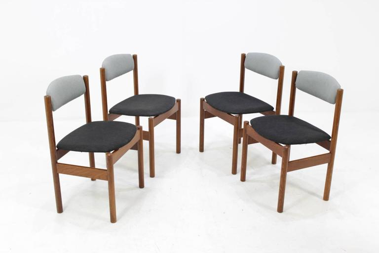 Set Of Four Danish Oak Dining Chairs 1960s For Sale At