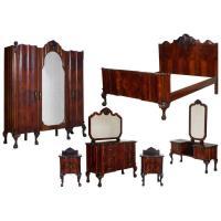 1910s Chippendale Venetian Baroque Revival Bedroom Set in ...