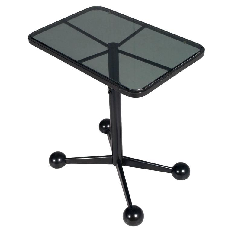 Modern Bar Cart or Side Coffee Rolling Table Adjustable