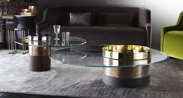 Couchtisch Milan Gallotti And Radice Haumea Coffee And Side Tables In Glass