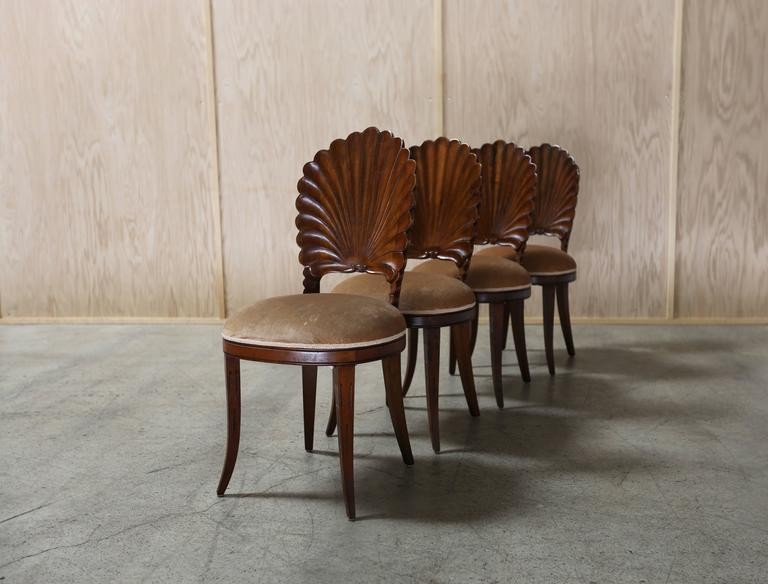 Set Of Four Venetian Grotto Chairs At 1stdibs