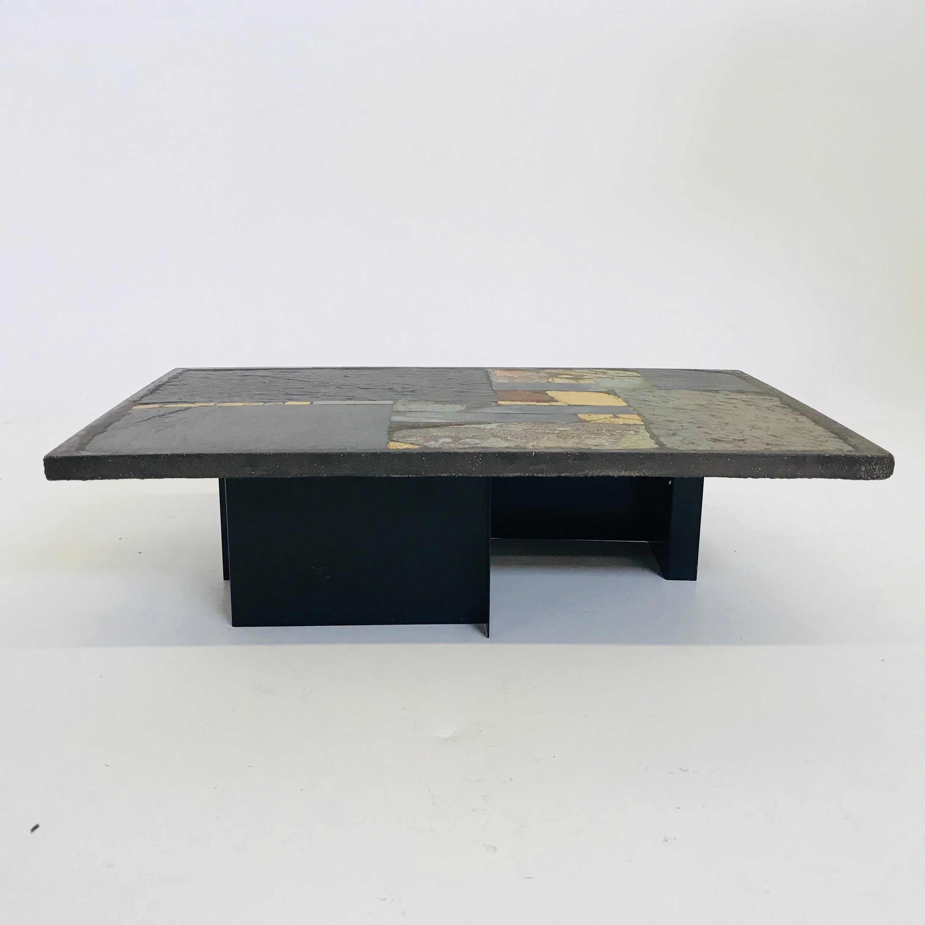 Couchtisch Höhenverstellbar Schiefer Paul Kingma Brutalist Cocktail Or Coffee Table