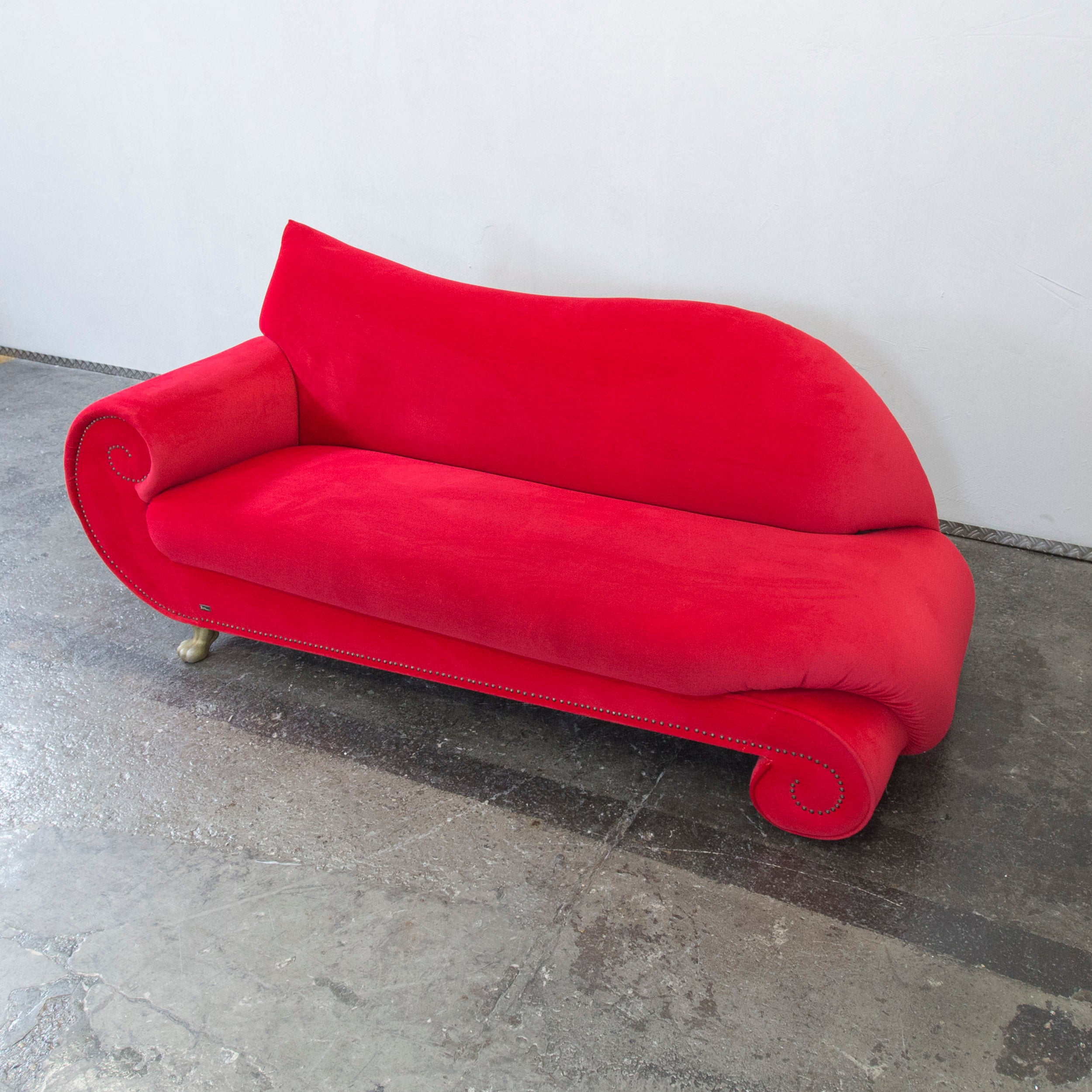 Chaiselongue Recamiere Original Bretz Gaudi Designer Sofa Red Fabric Chaiselongue Recamiere Three Seat
