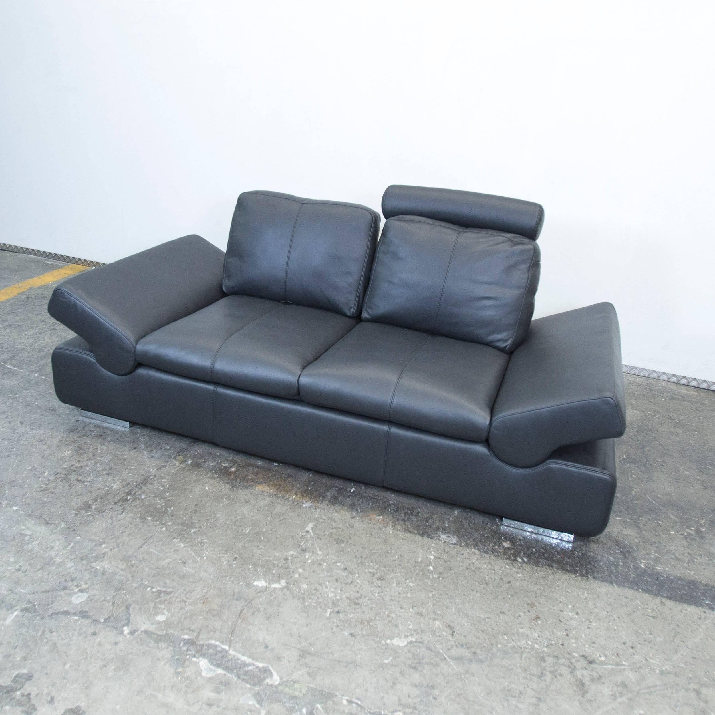 Musterring Ledersofa Musterring Linea Designer Leather Sofa Black Three-seat Couch Function At 1stdibs