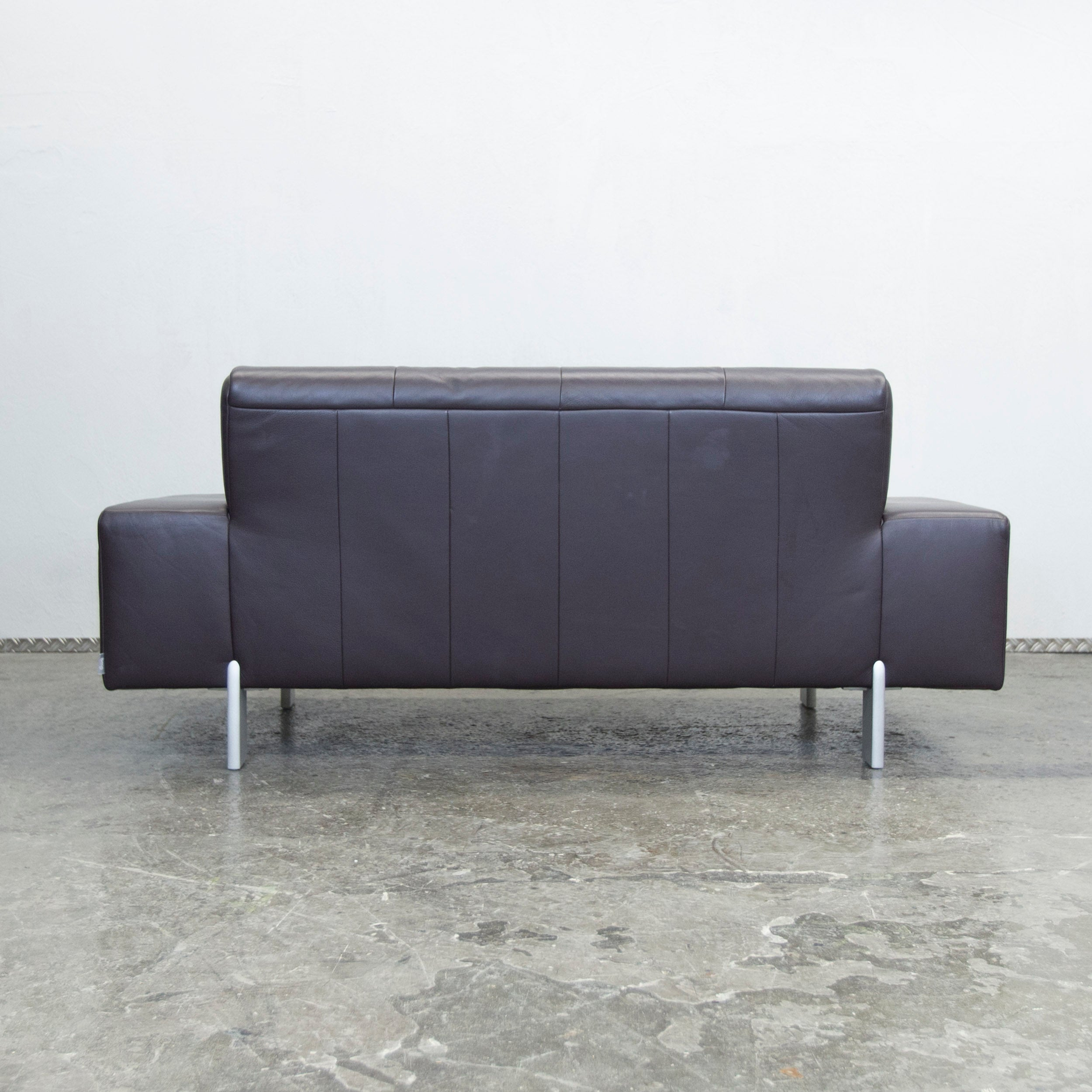 Benz Couch Bmp Rolf Benz Designer Leather Sofa Aubergine Lilac Two Seat Couch Modern