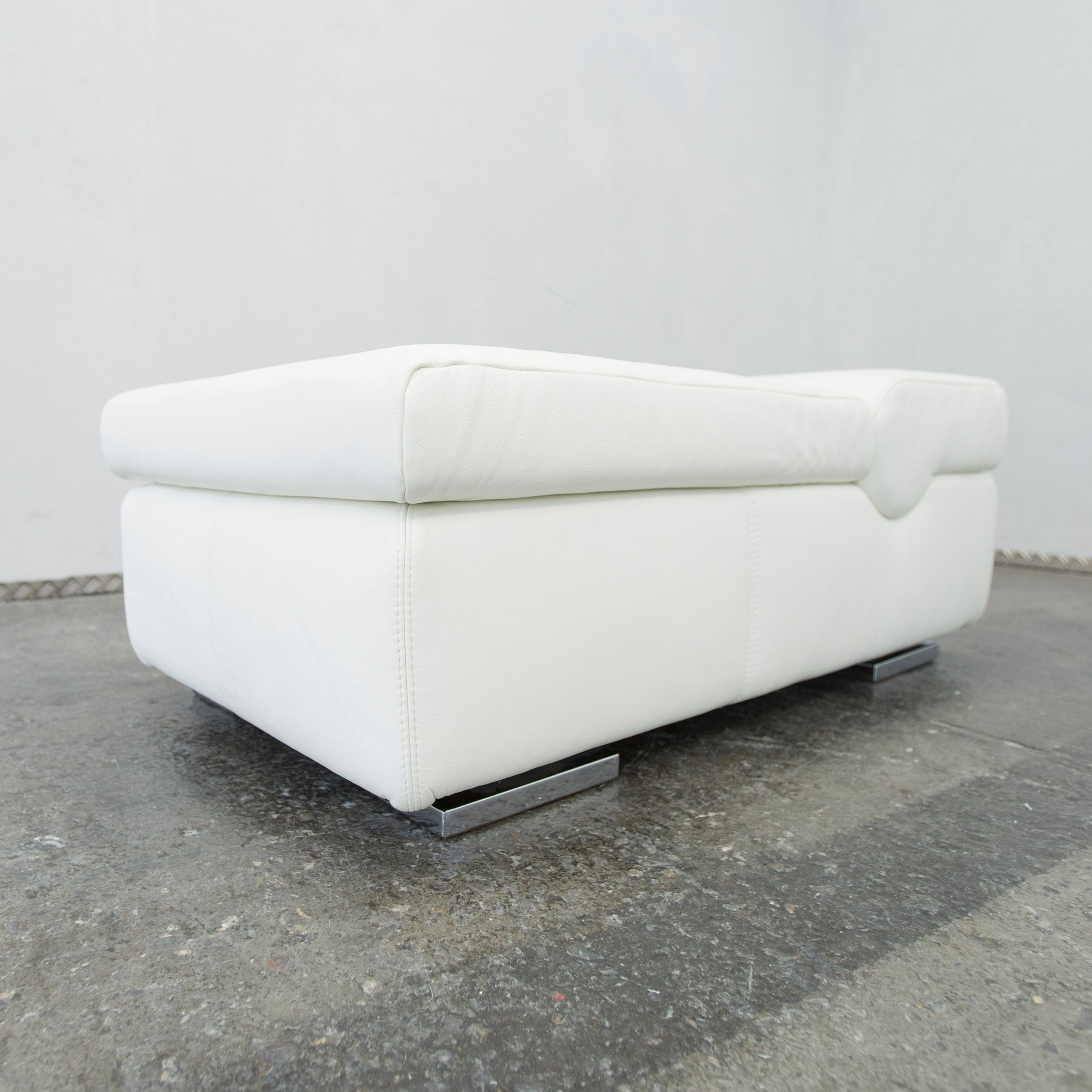 Einsitzer Sofa Musterring Designer Leather Footstool White Sofa Couch Pouff One Seat Modern