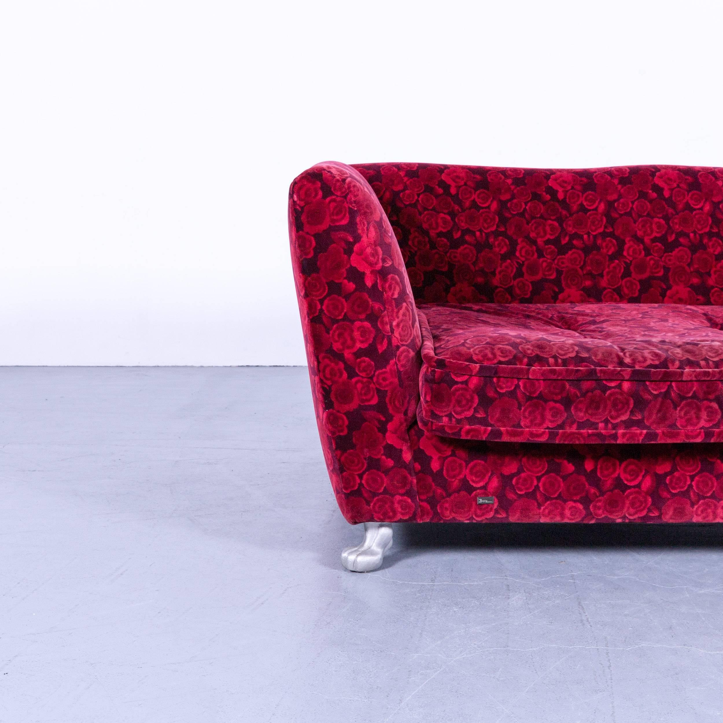 Bretz Couch Bretz Monster Sofa Red Fabric Three-seat Couch Rose ...
