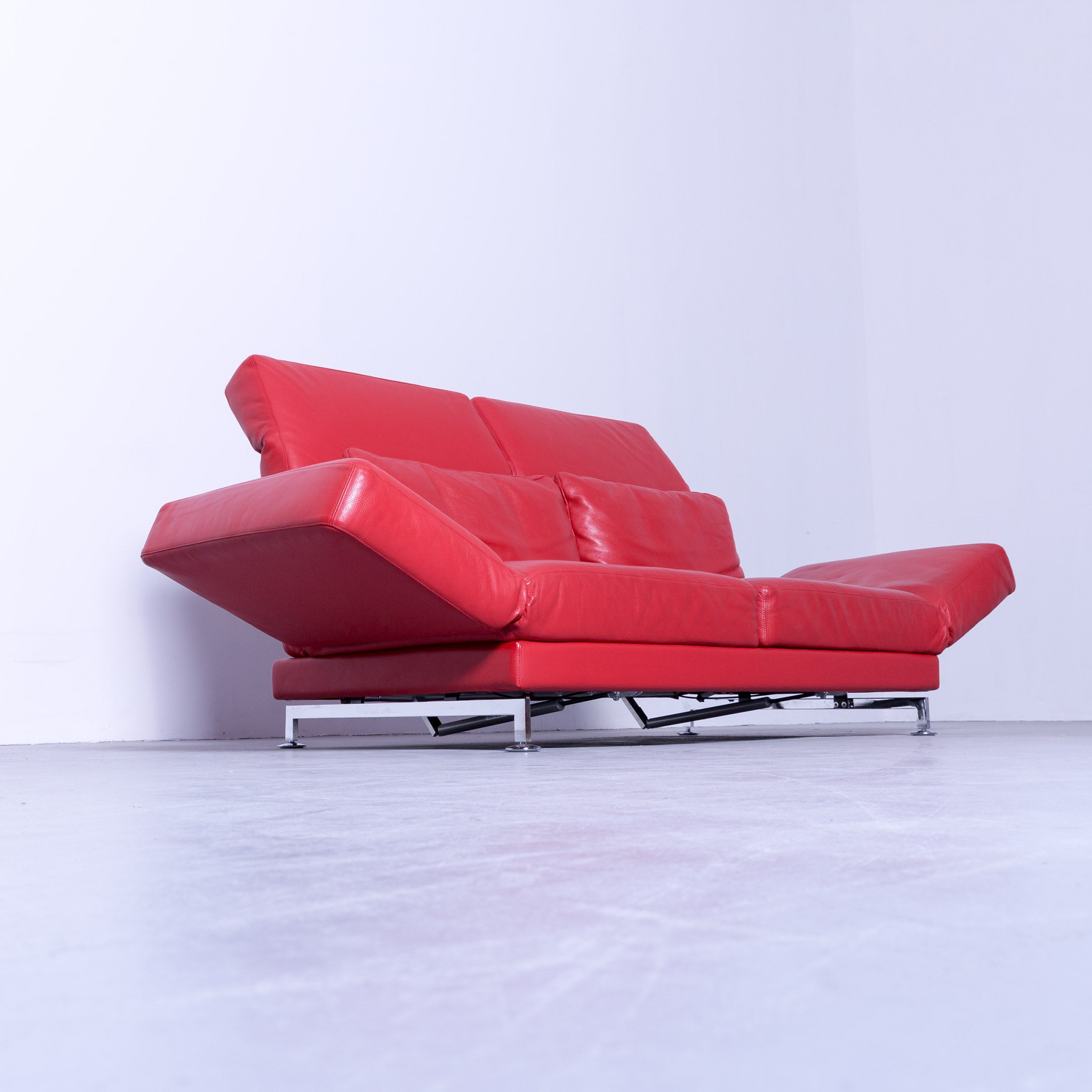 Brühl Moule Ecksofa Gebraucht Brühl Sippold Moule Designer Sofa Leather Red Two Seat Couch Function Relax