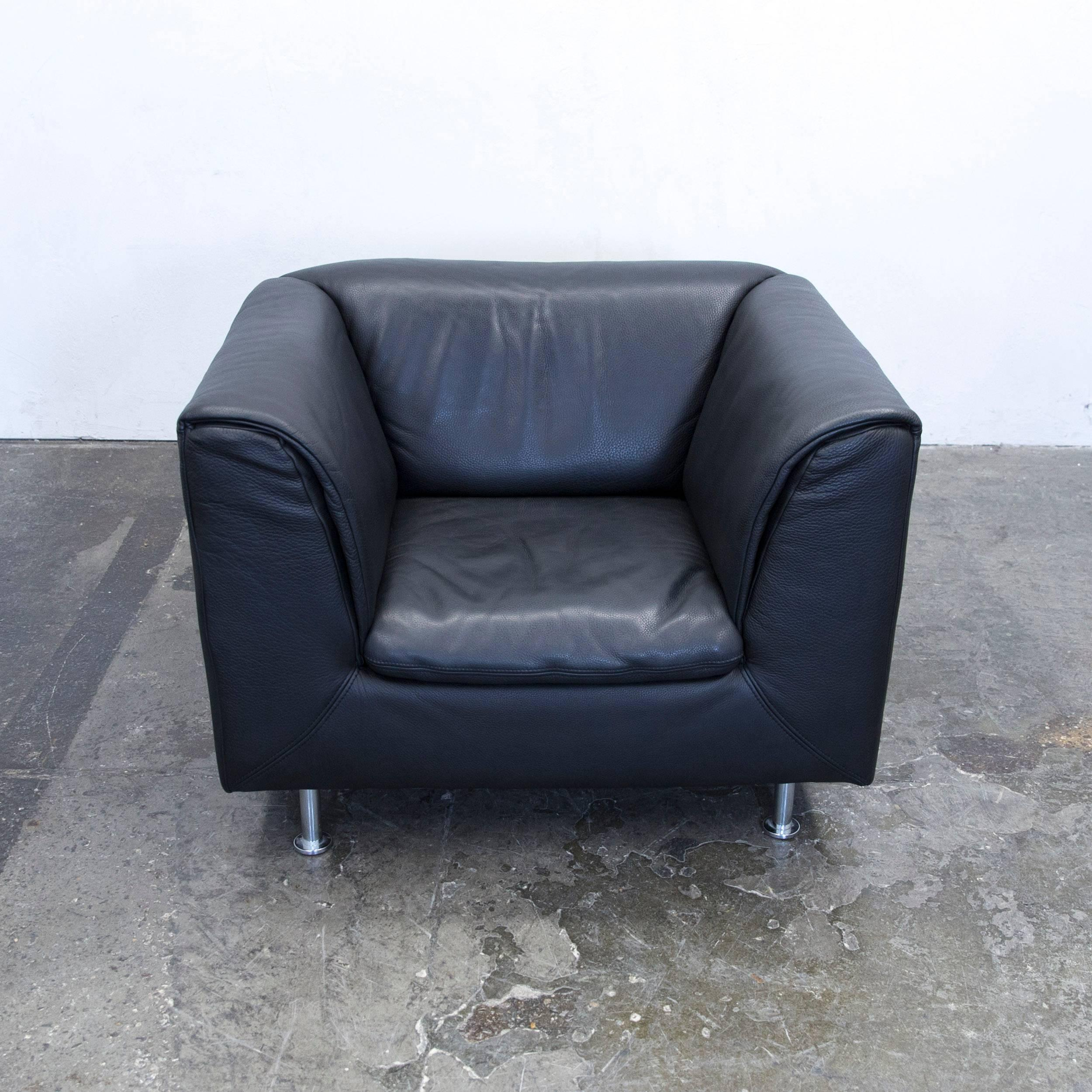 Skull Sessel Willi Schillig Designer Armchair Leather Anthrazit Black One Seat Couch