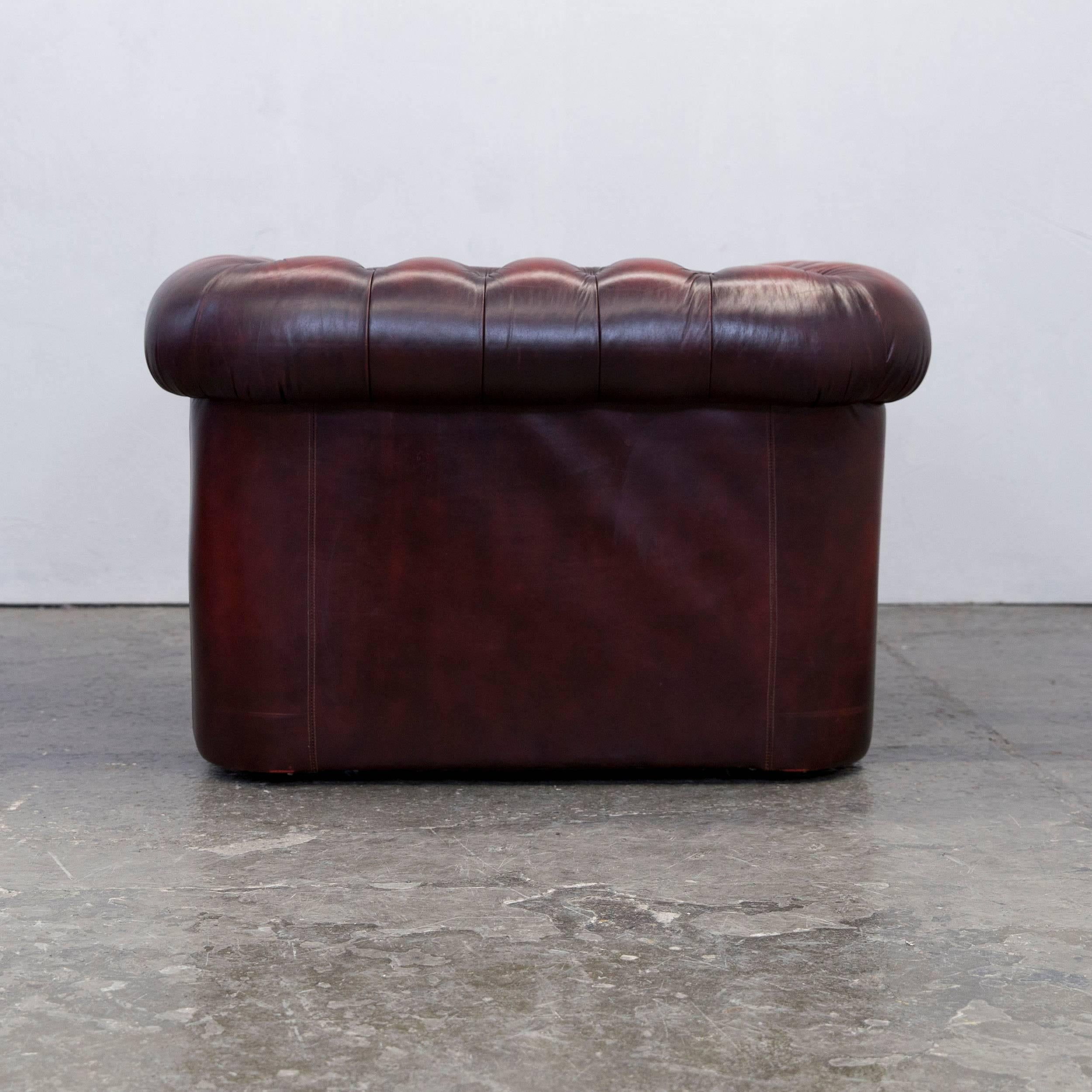 Vintage Clubsessel Original Chesterfield Club Chair Oxblood Red