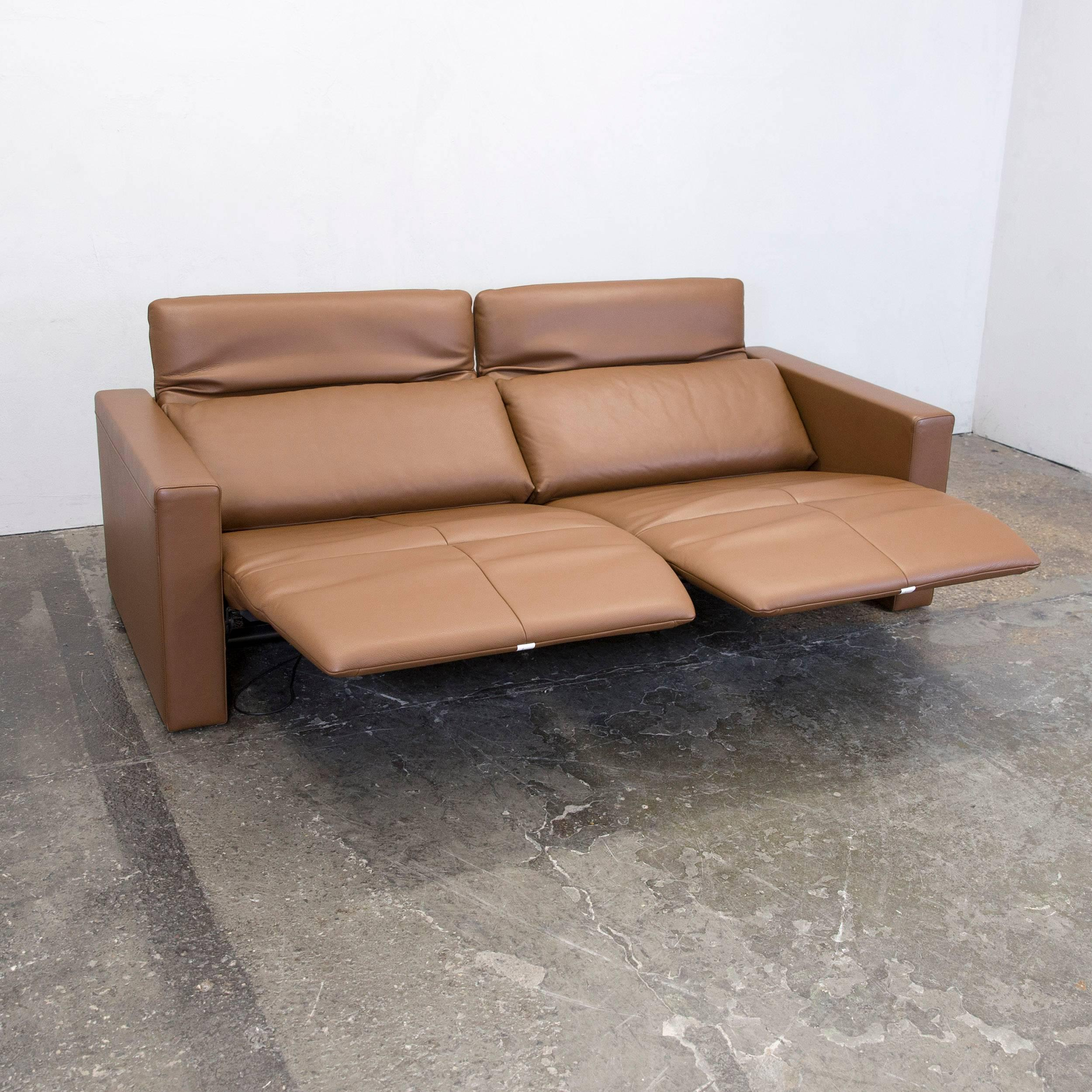 Relax Couch Elektrisch Fsm Moto Leather Couch Brown Electric Function Three Seat Sofa