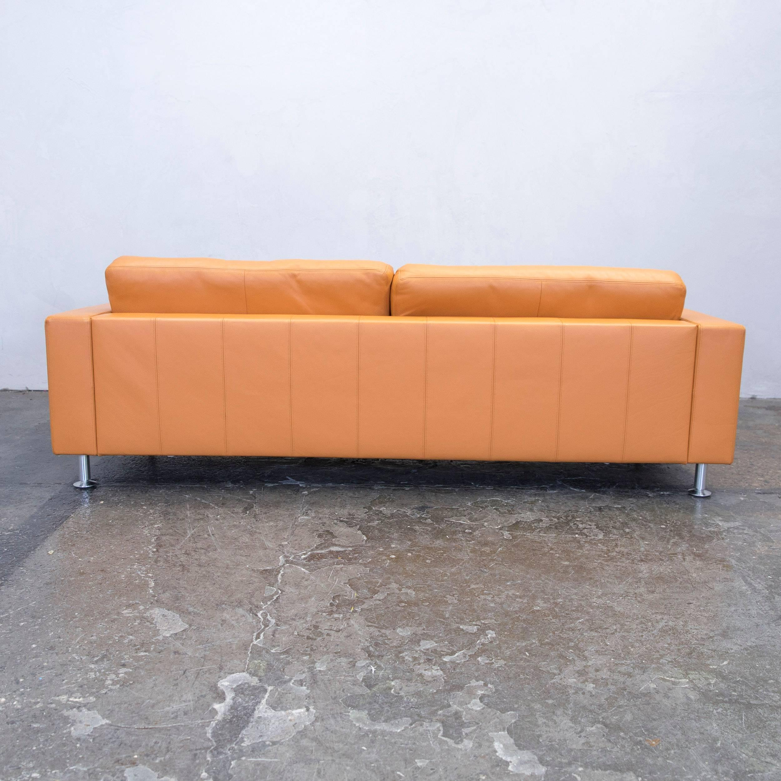 Designer Sessel Orange Rolf Benz Basix Designer Sofa Orange Three Seat Couch Modern