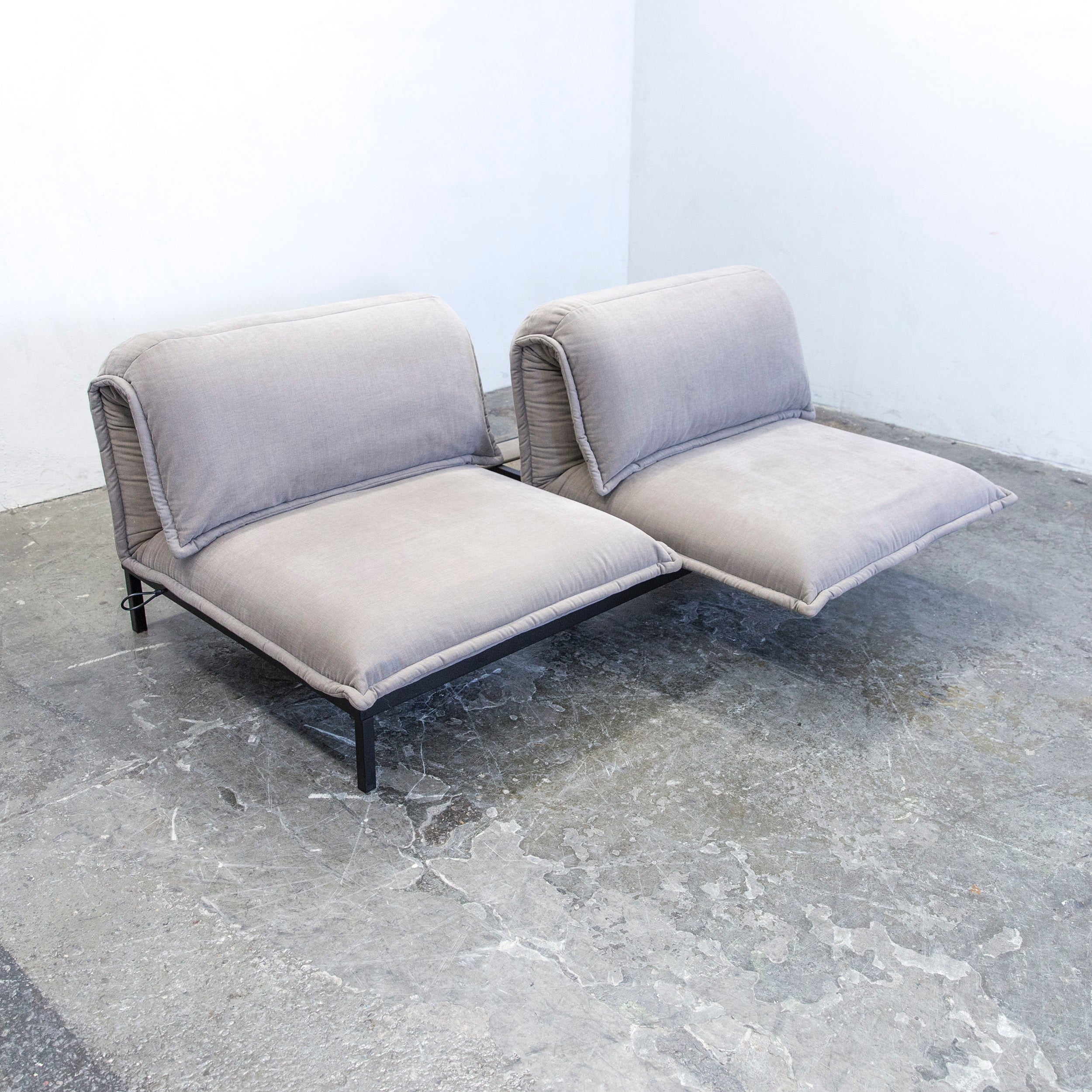 Rolf Benz Sofa Stoff Beige Rolf Benz Nova Designer Sofa Grey Fabric Two Seat Function Couch Modern