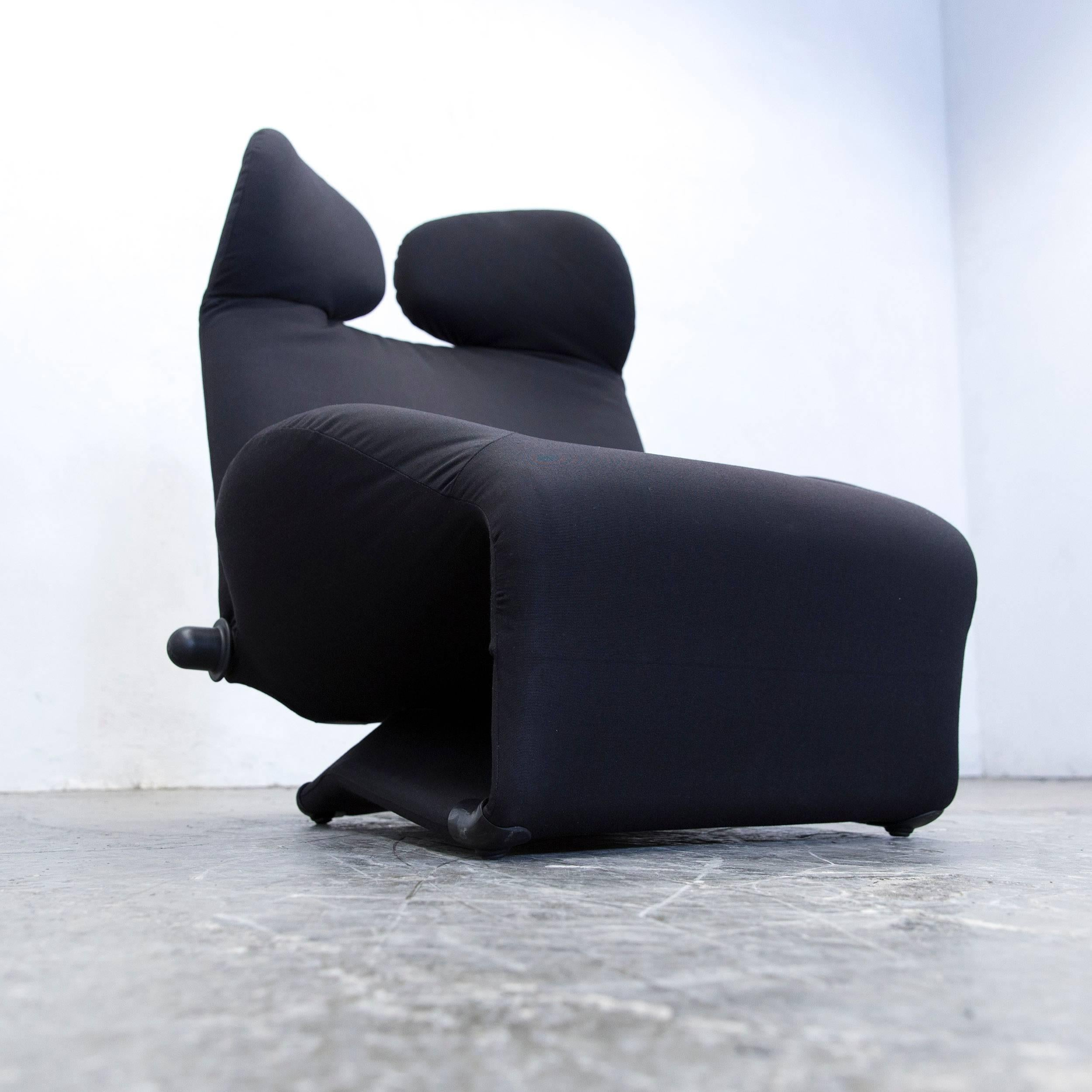 Wink Sessel Schwarz Cassina Wink Designer Armchair Fabric Black One Seat Couch