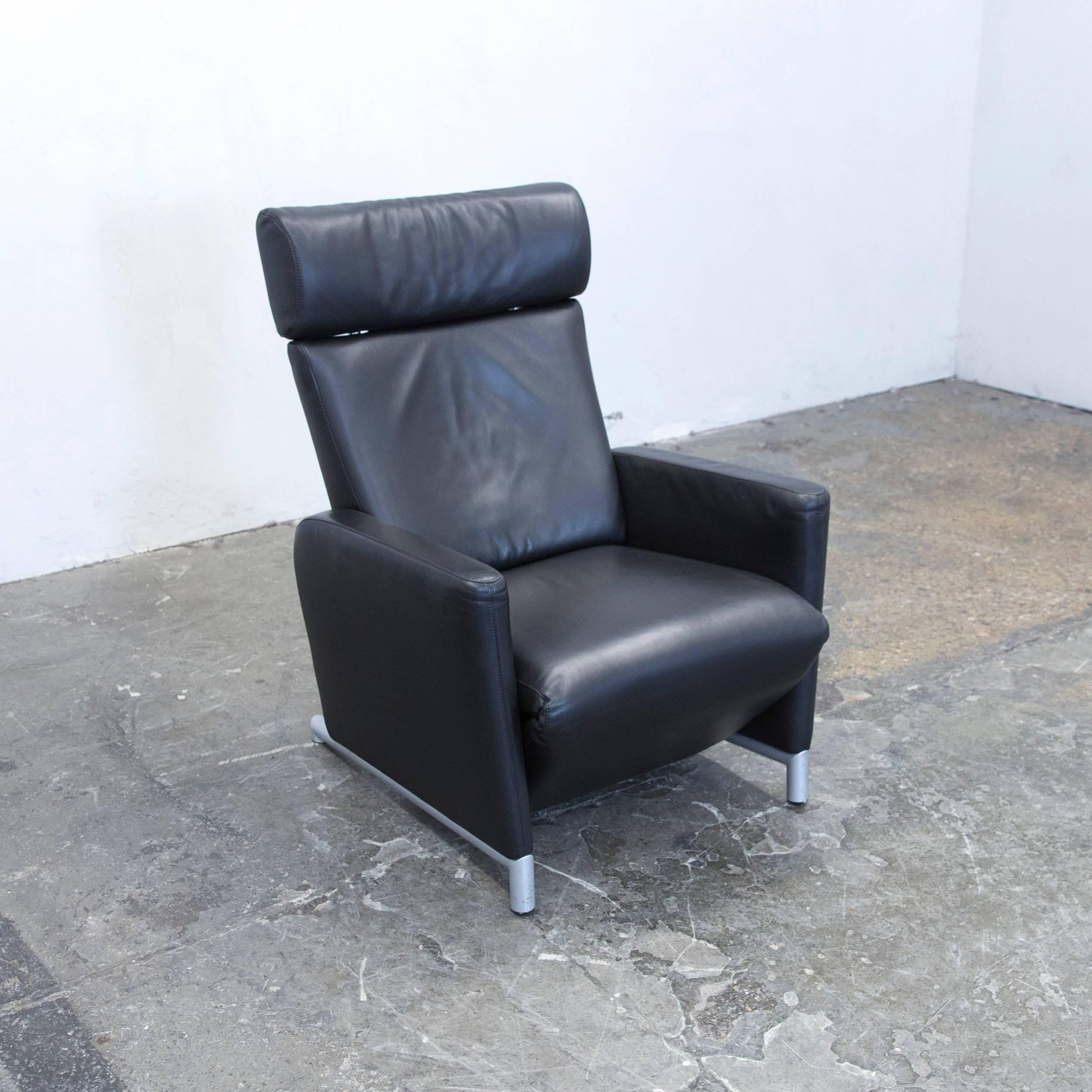 Sessel Cor Cor Bico Designer Armchair Leather Black One Seat Couch Modern Function