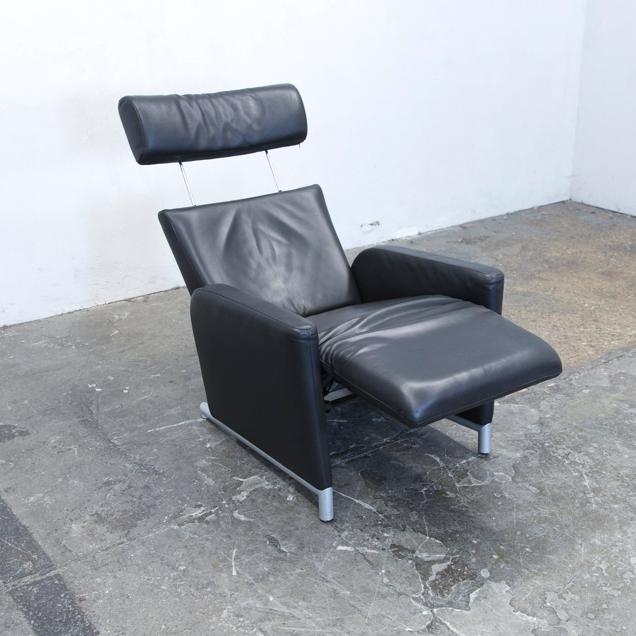 Cor Sessel Cor Bico Designer Armchair Leather Black One Seat Couch Modern Function