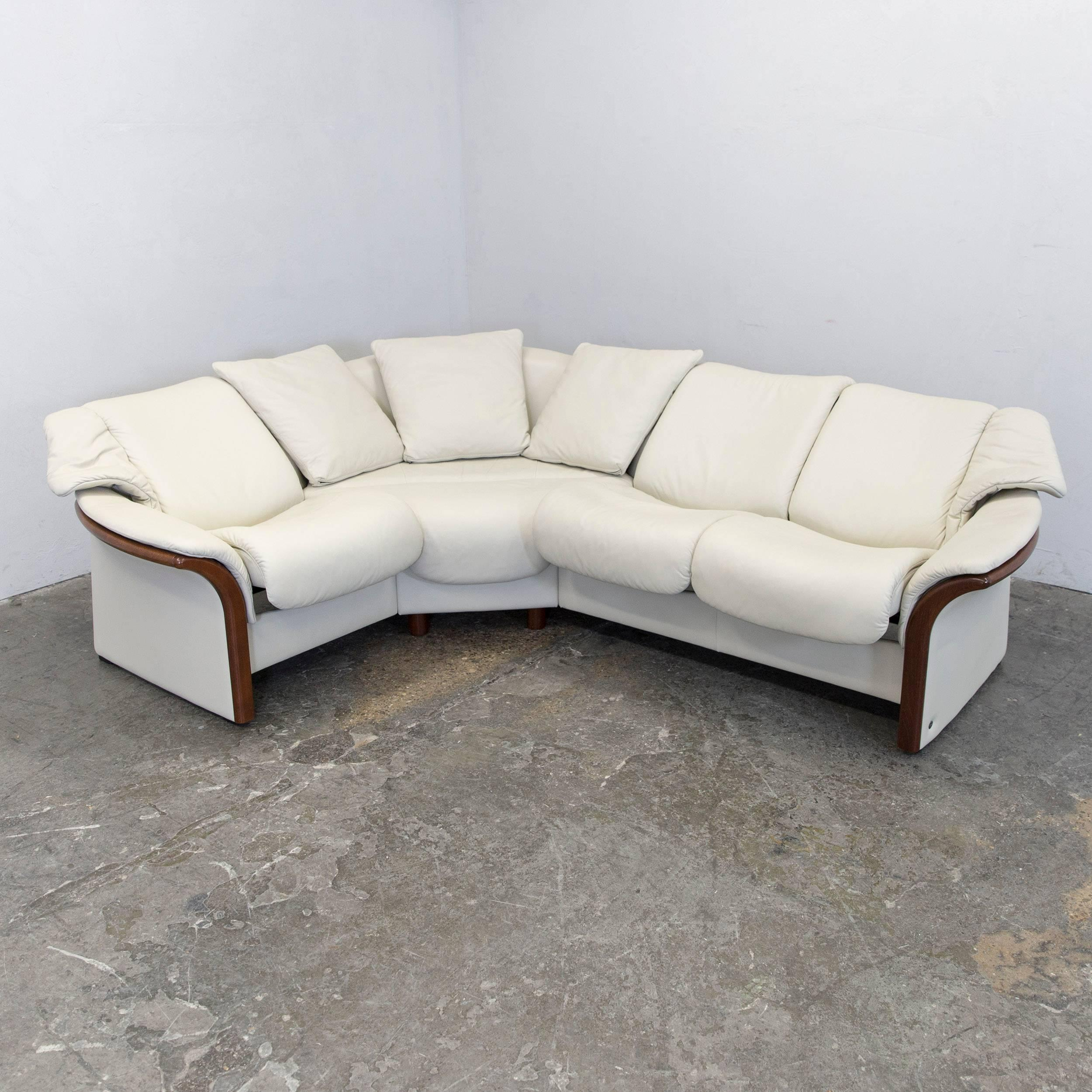 Saporiti Sessel Ekornes Stressless Designer Corner Sofa Beige Leather