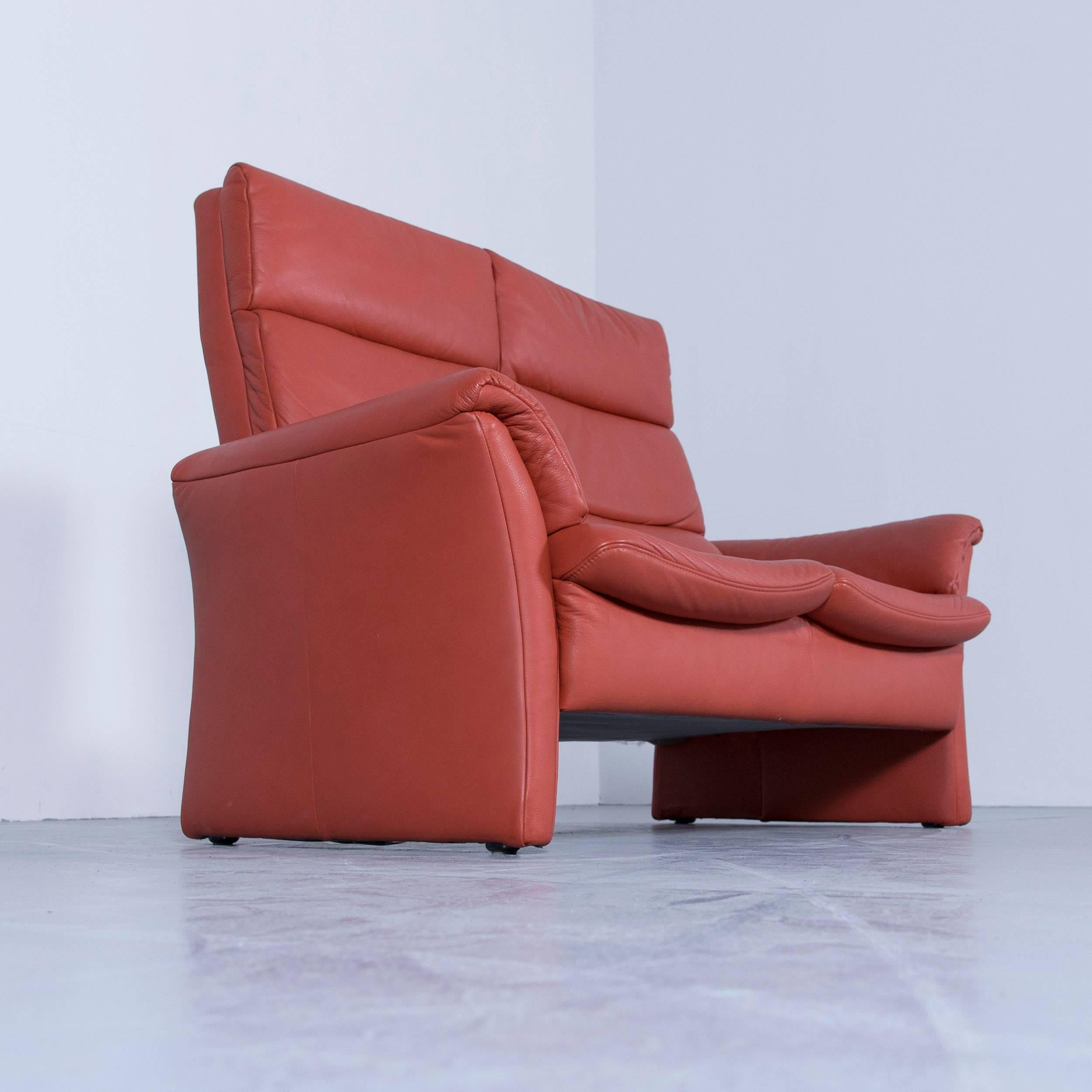 Himolla Sessel Gebraucht Himolla Zerostress Two Seat Sofa Leather Orange Relax One Seat Couch