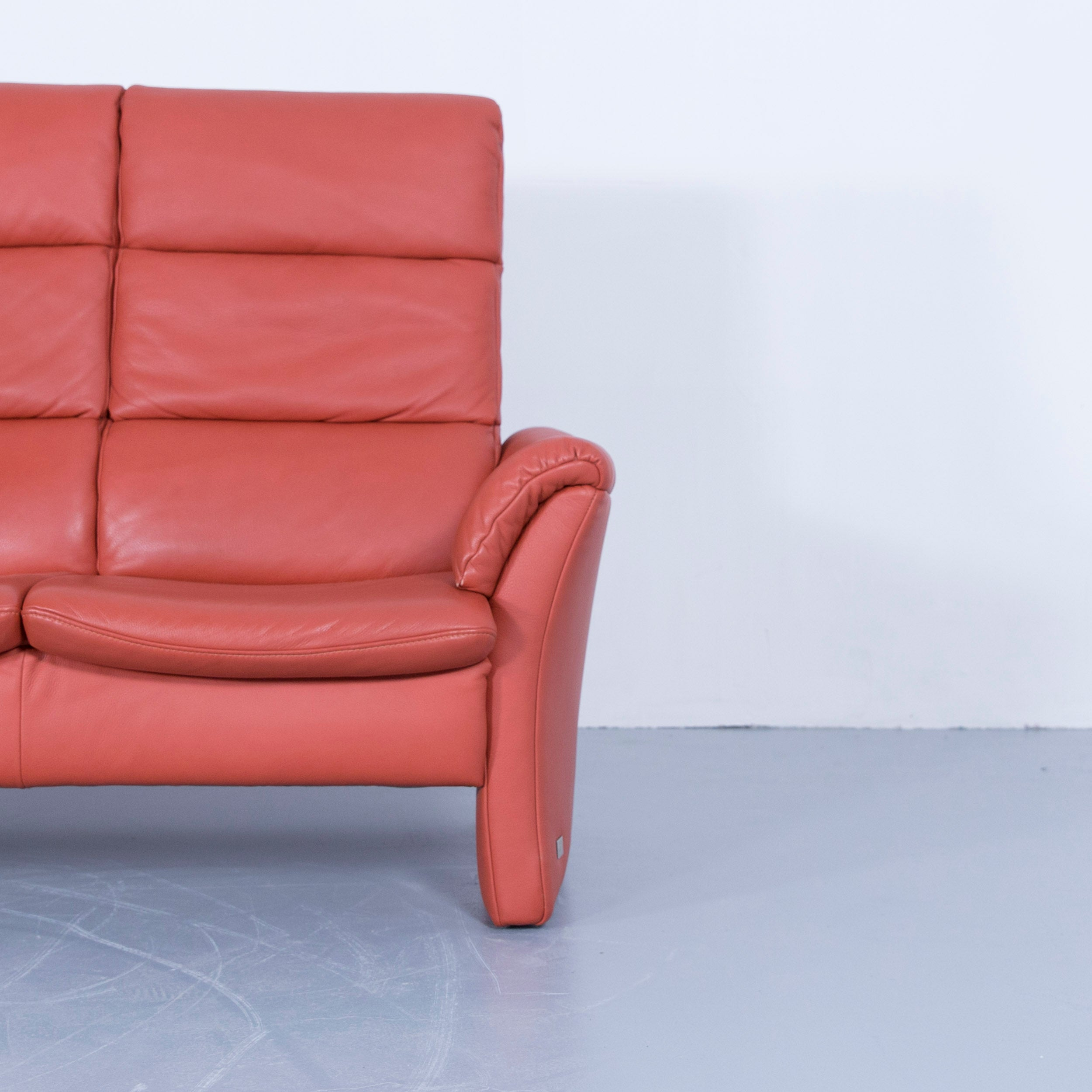 Himolla Relax Sofa 2 5 Sitzer Himolla Zerostress Three Seat Sofa Leather Orange Relax One Seat Couch