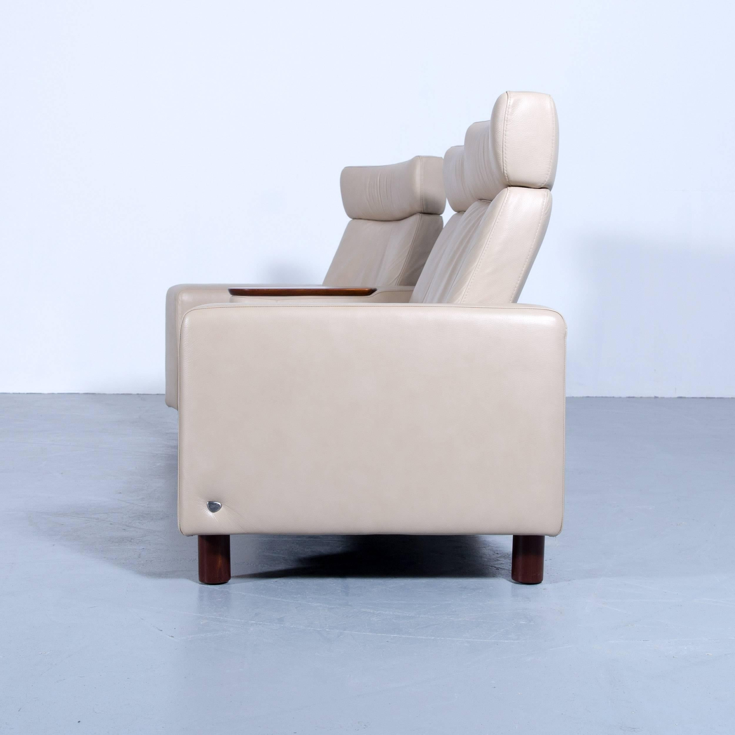 Stressless Sessel Funktion Ekornes Stressless Space Relax Sofa Beige Crème Leather Tv Recliner Three Seat
