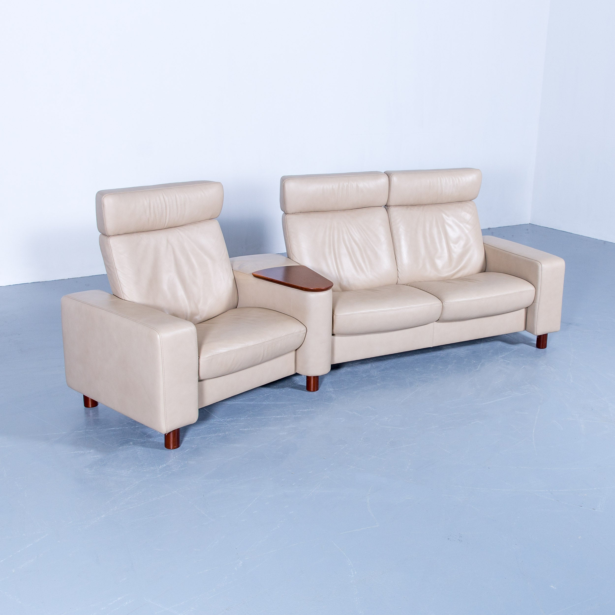 Stressless Ekornes Sessel Ekornes Stressless Space Relax Sofa Beige Crème Leather Tv Recliner Three Seat
