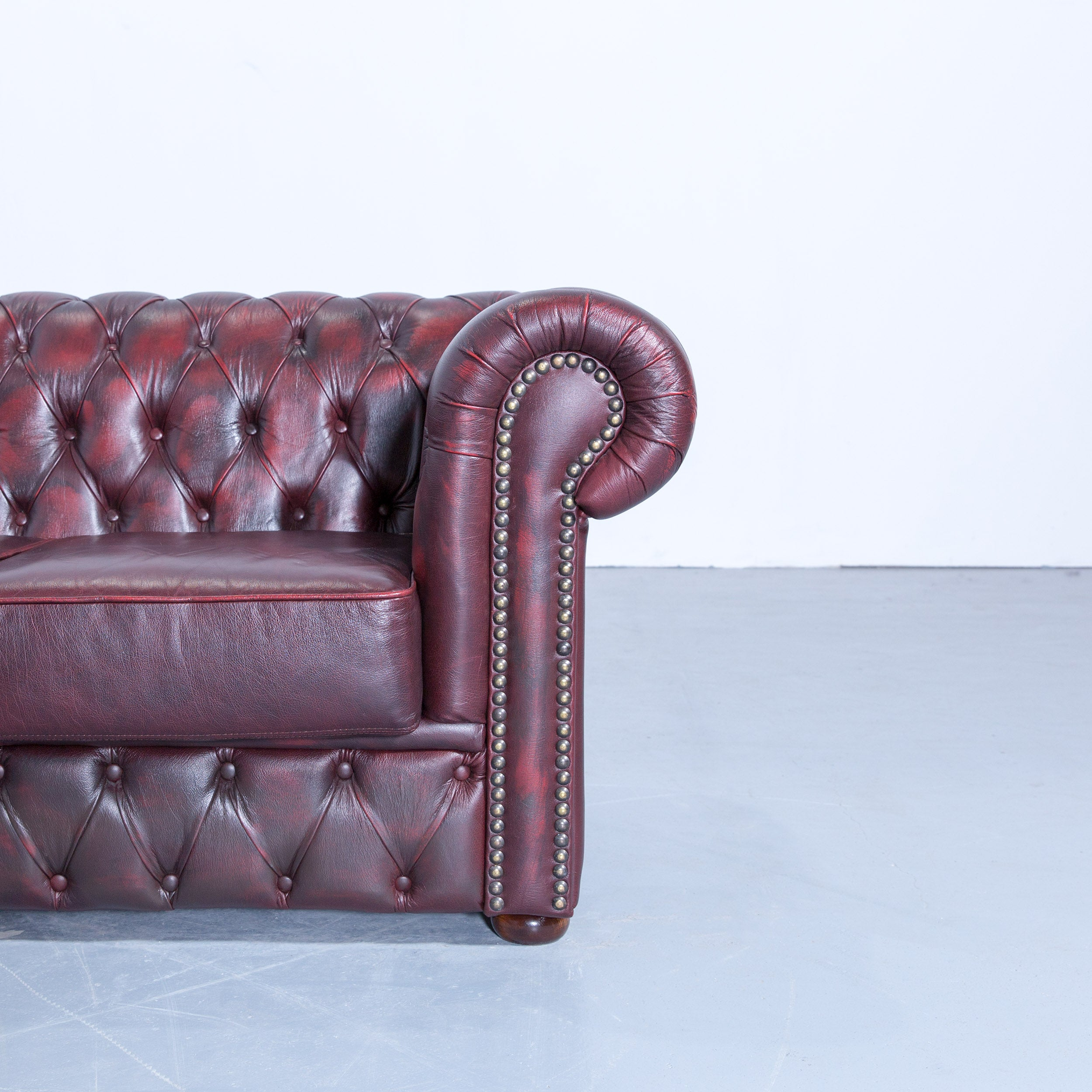 Chesterfield Sofa Leder Rot Rochester Chesterfield Corner Sofa And Footstool Oxblood Red Leather Couch Set