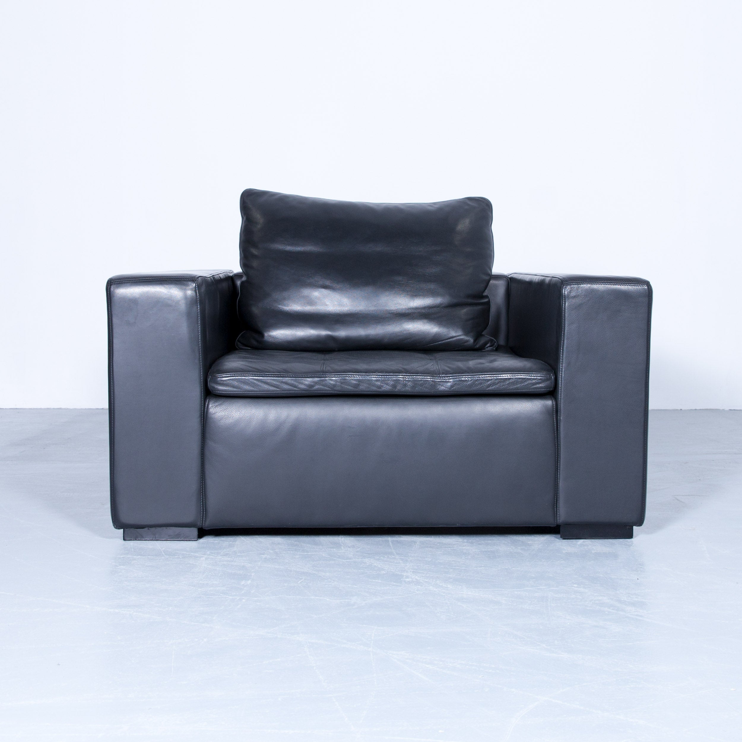 Dieter Rams Sessel Gebraucht Boconcept Designer Sofa Set Black Three Seat Armchair And Footstool Leather