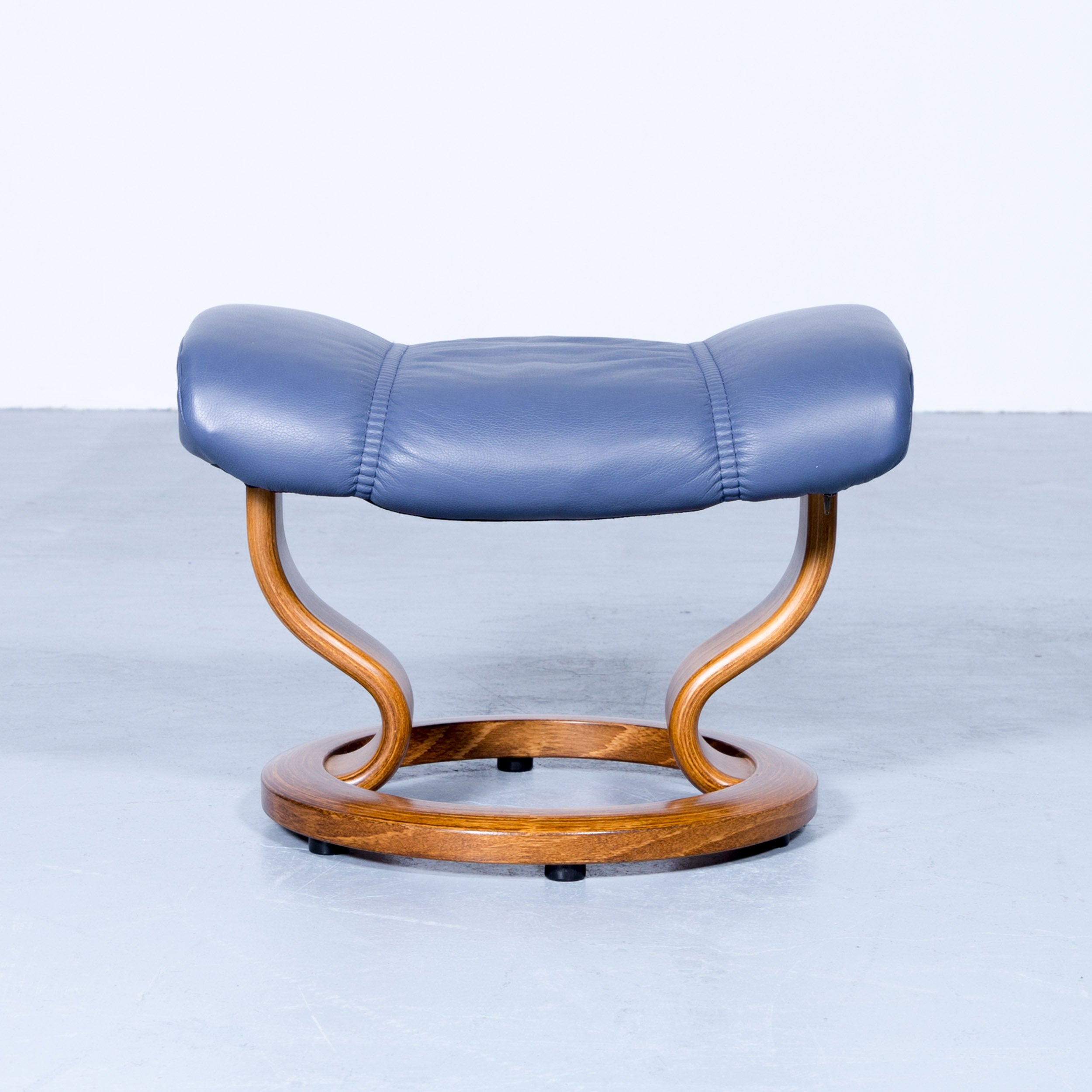Couchtisch Asia Ekornes Stressless Consul Footstool Leather Blue Modern Footrest