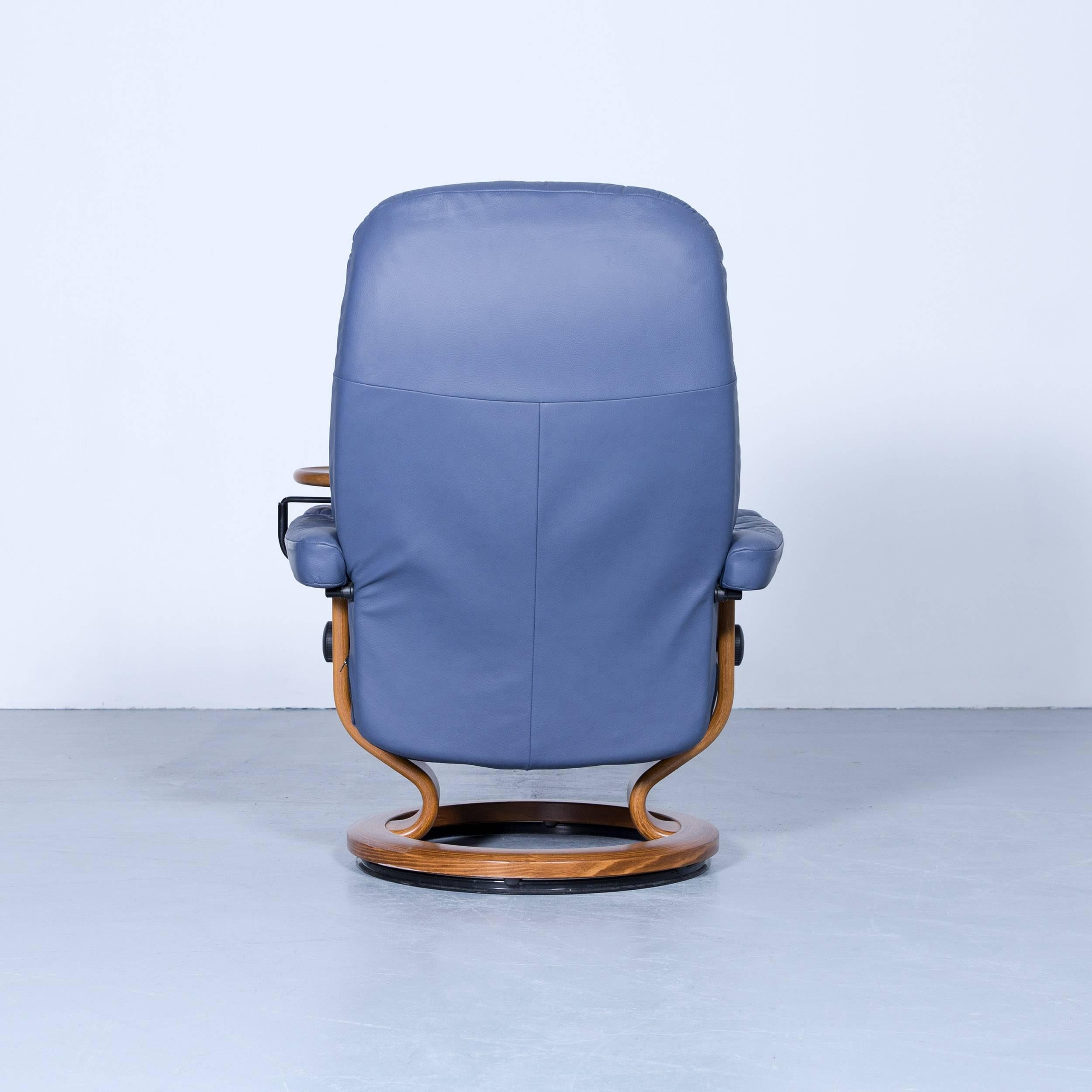 Stressless Sessel Wing Stressless Consul Relax Armchair Light Blue Leather Relax