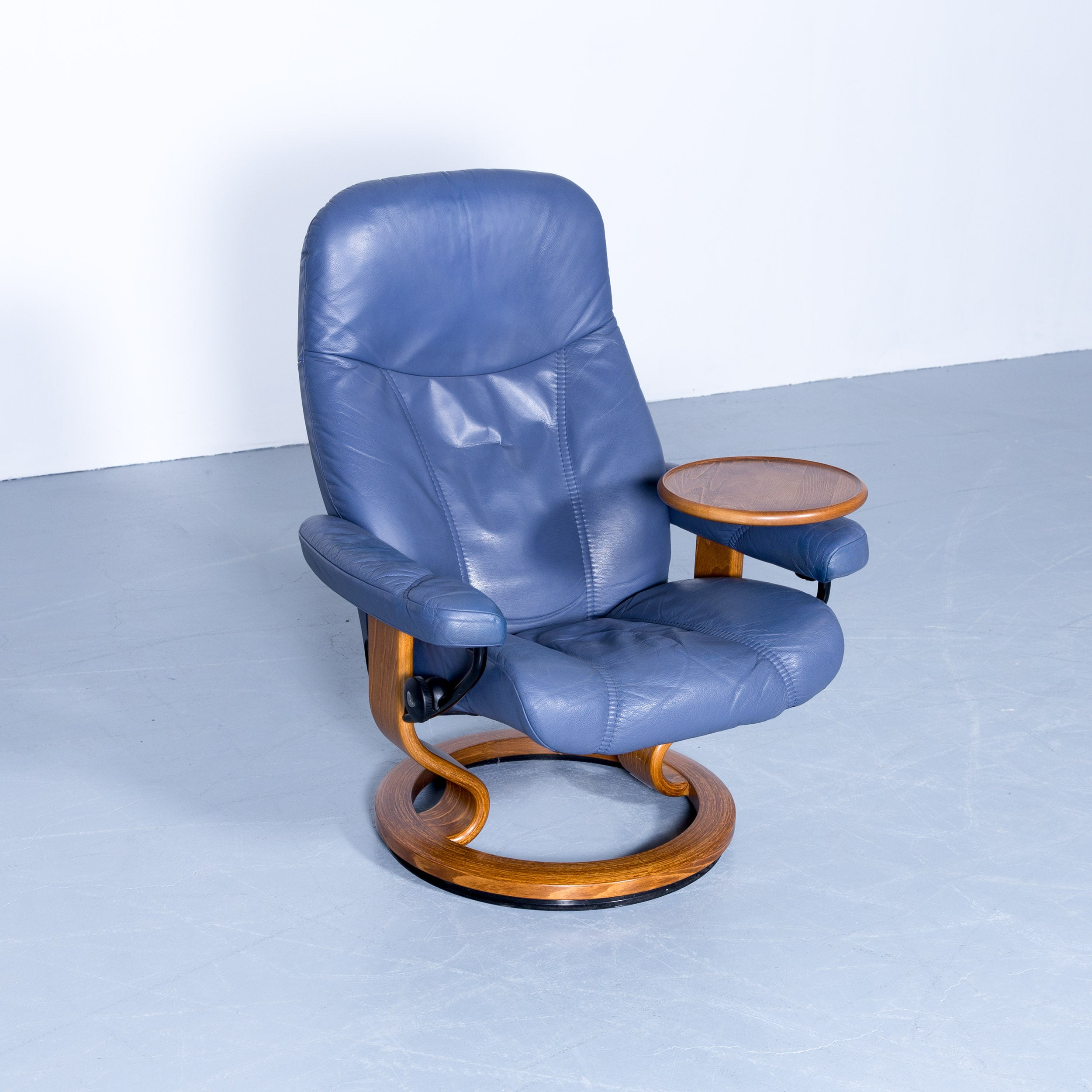 Stressless Consul Preisvergleich Stressless Consul Relax Armchair And Footstool Set Blue Leather Relax Function